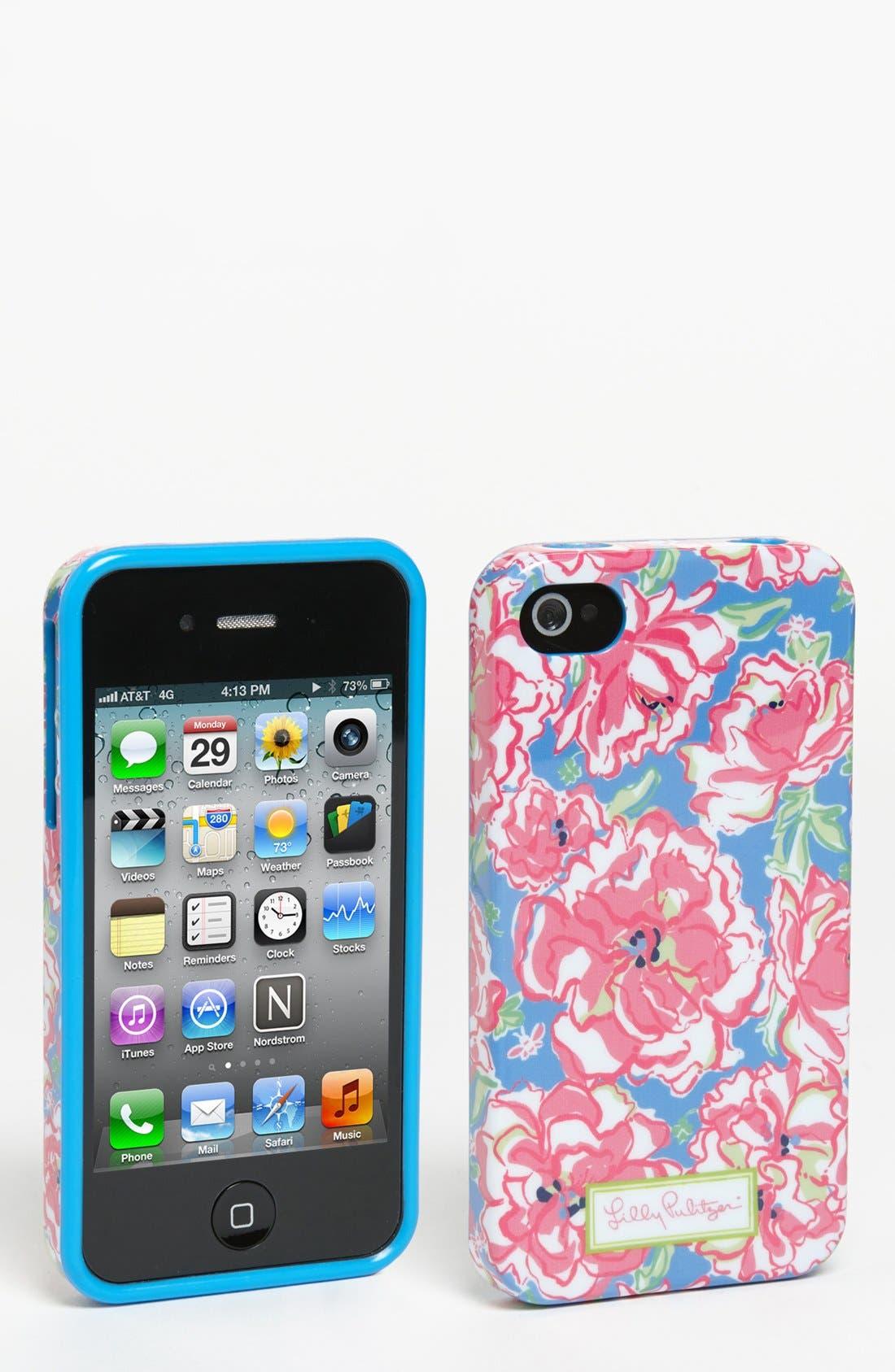 Floral Print iPhone 4 & 4S Case, Main, color, 400