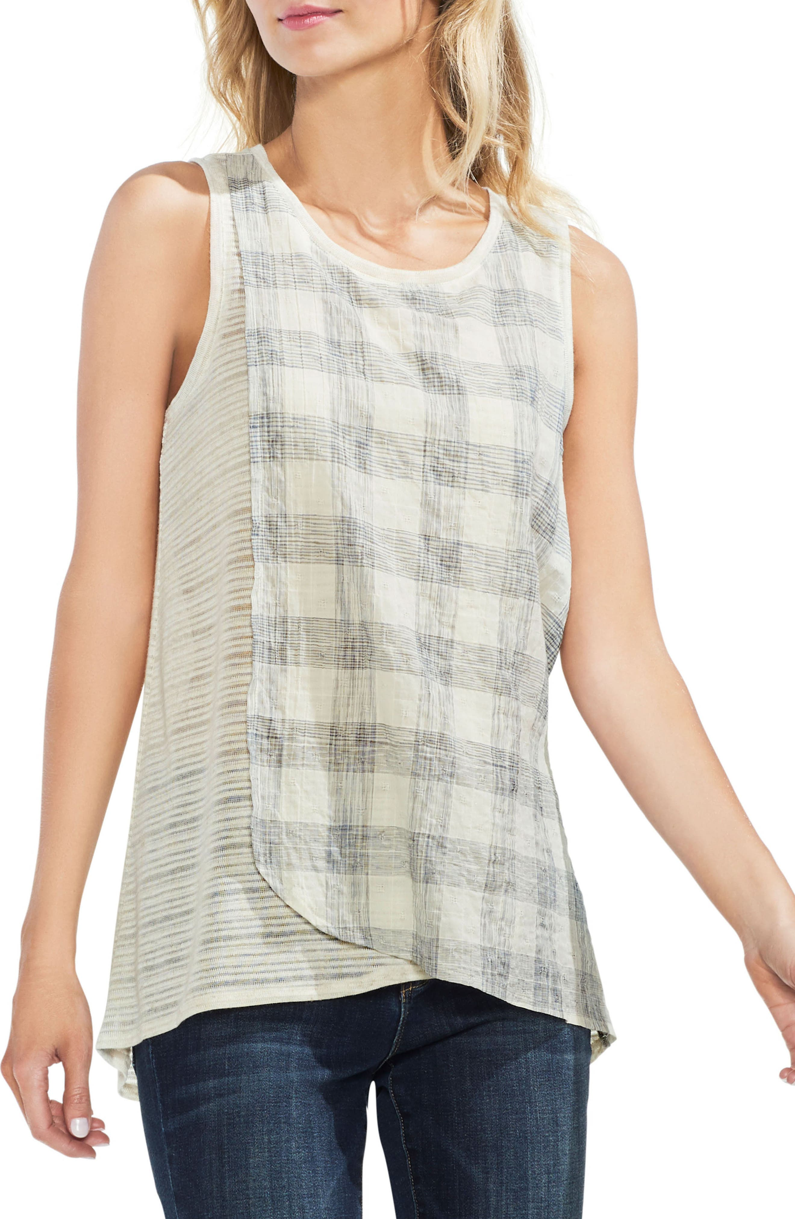 Mixed Texture Tank,                         Main,                         color,