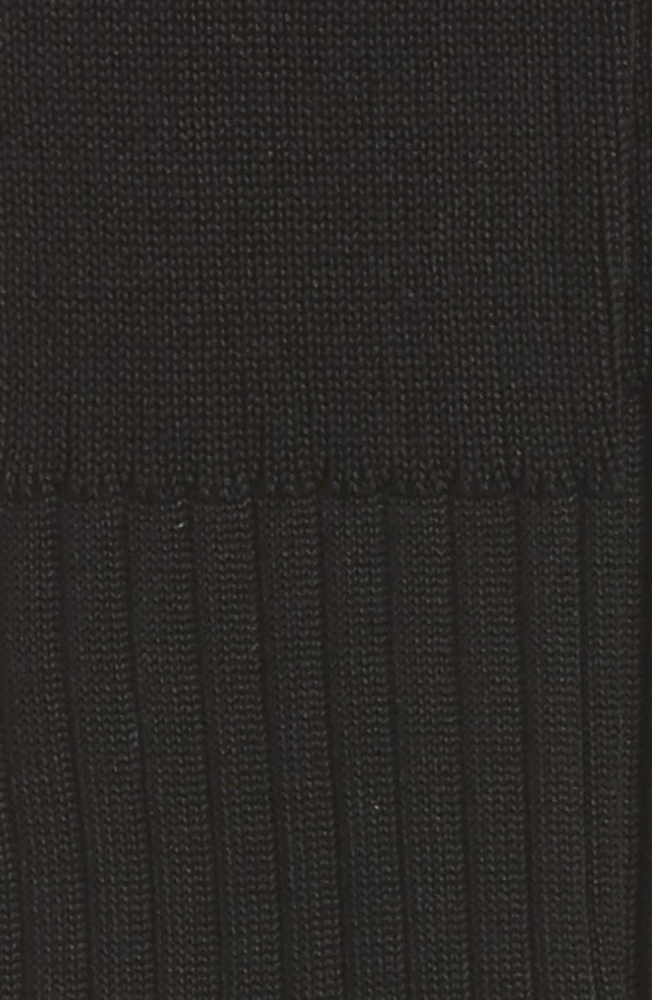 Over the Calf Cotton Blend Socks,                             Alternate thumbnail 3, color,                             BLACK