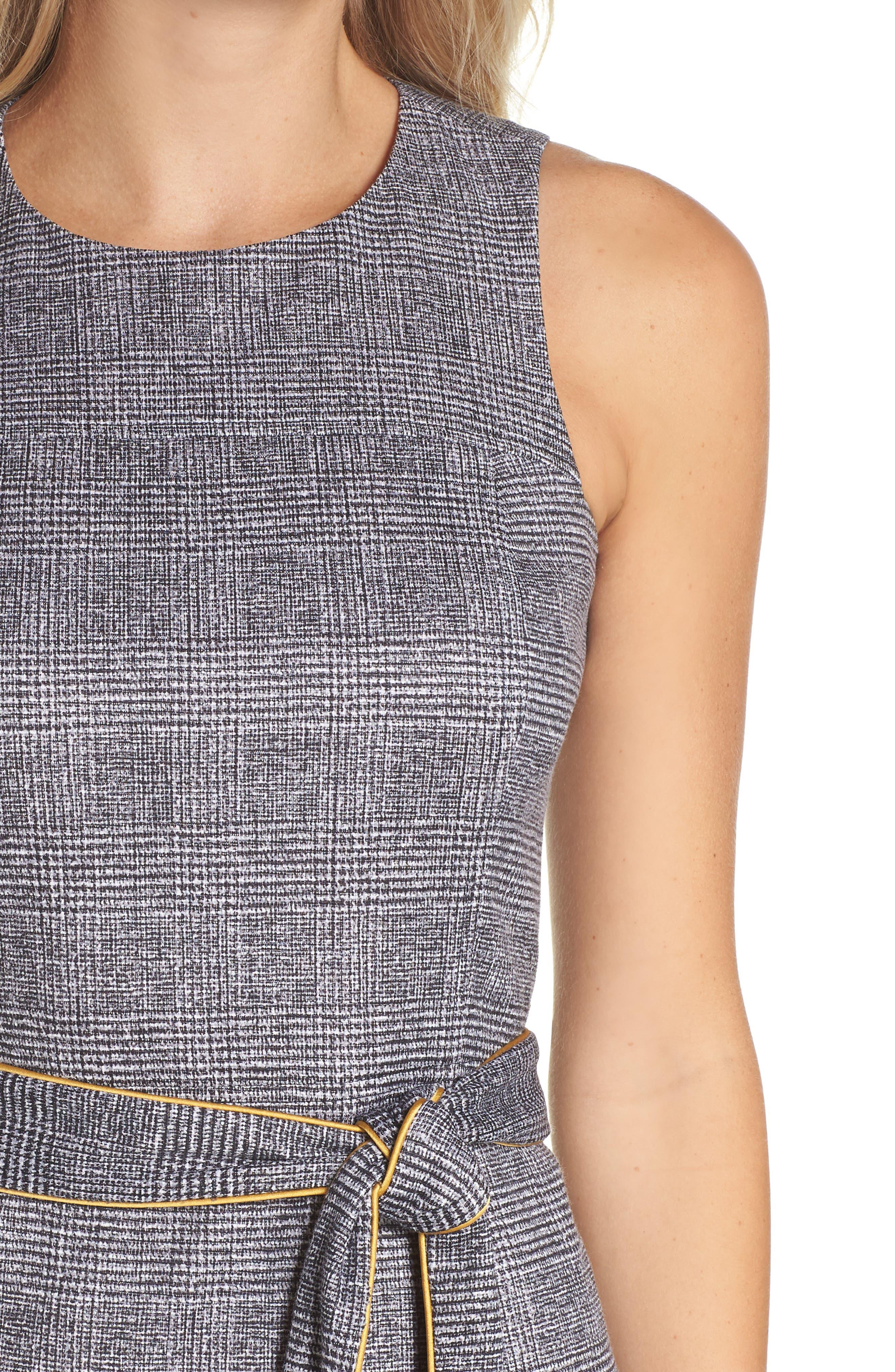 CHELSEA28,                             Sleeveless Plaid Dress,                             Alternate thumbnail 4, color,                             001