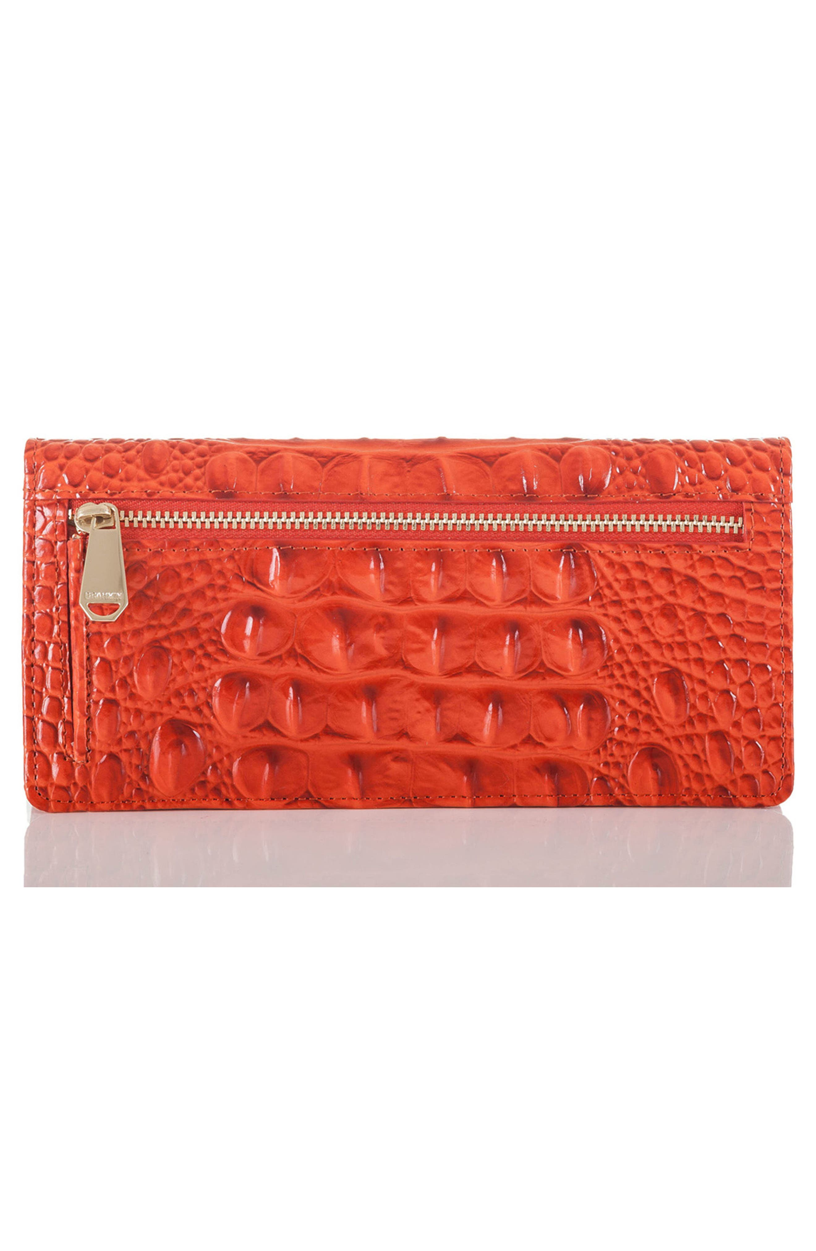 'Ady' Croc Embossed Continental Wallet,                             Alternate thumbnail 2, color,                             AMARYLLIS