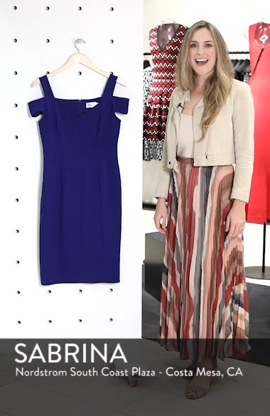 Cold Shoulder Sheath Dress, sales video thumbnail