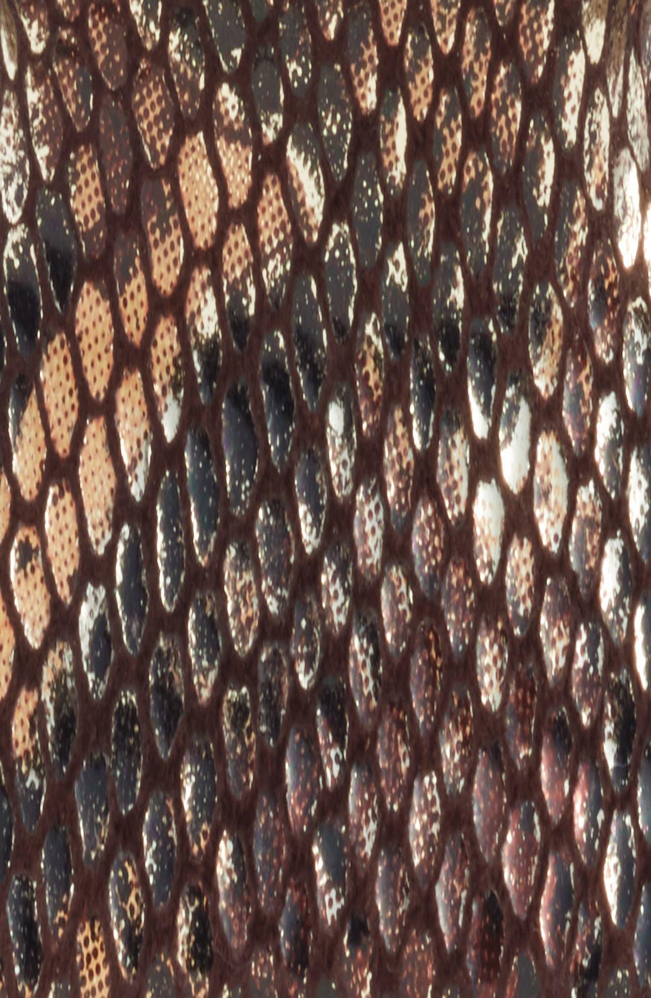 ALEXANDRE DE PARIS,                             Vendome Python Embossed Leather Hair Clip,                             Alternate thumbnail 3, color,                             020