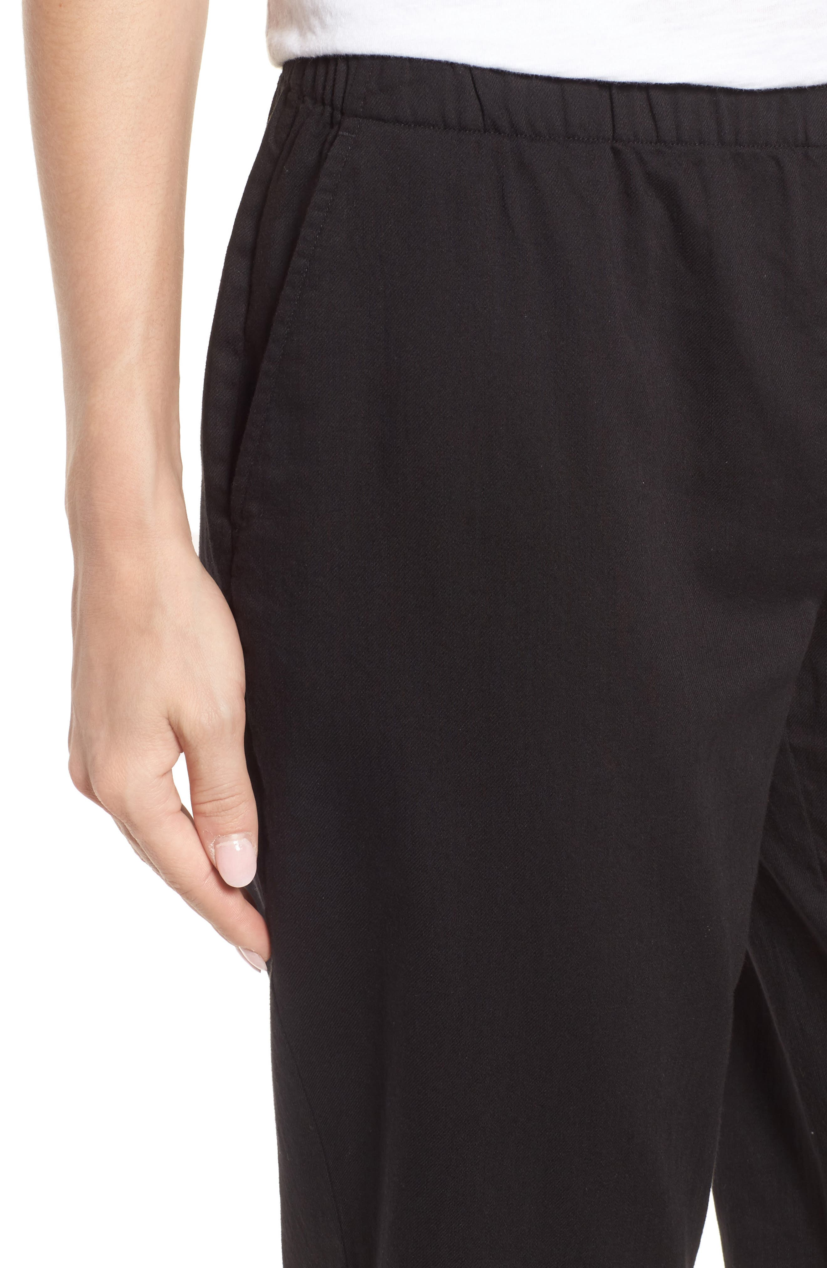 Organic Cotton Tapered Ankle Pants,                             Alternate thumbnail 14, color,