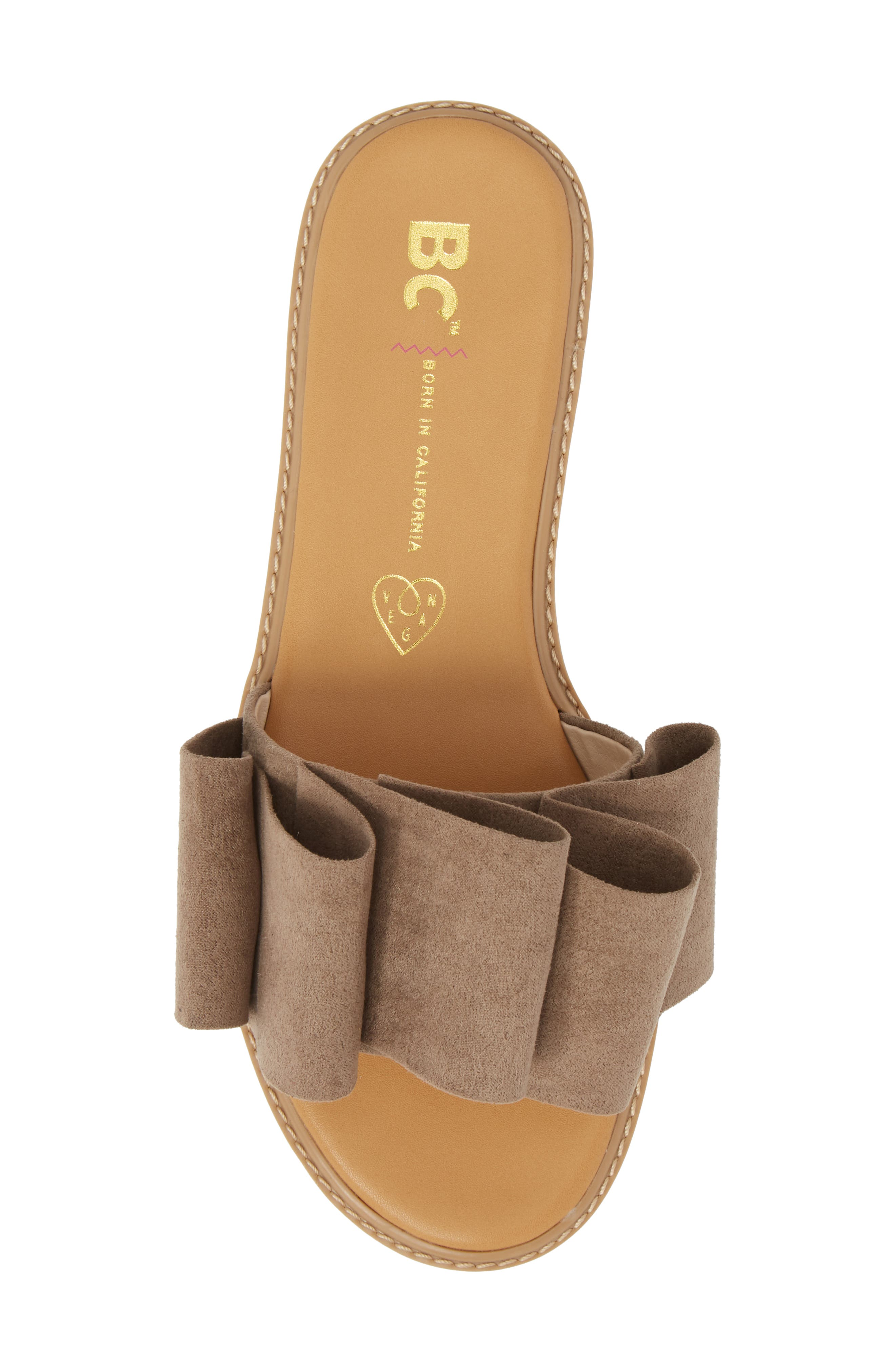 Fun for All Ages Pleated Sandal,                             Alternate thumbnail 5, color,                             TAUPE SUEDE