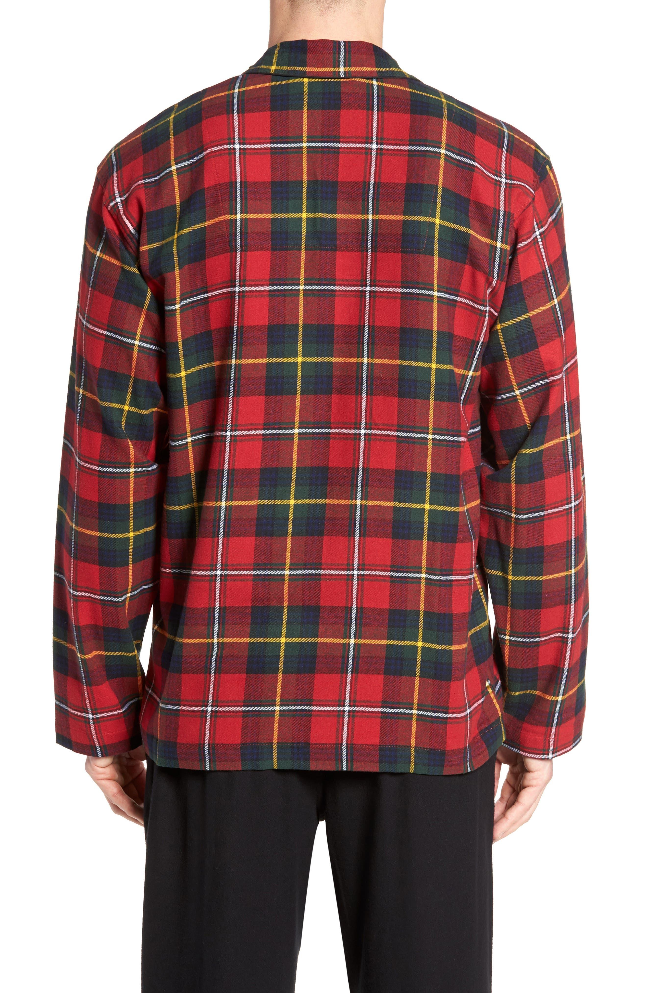 Polo Ralph Lauren Flannel Pajama Shirt,                             Alternate thumbnail 8, color,