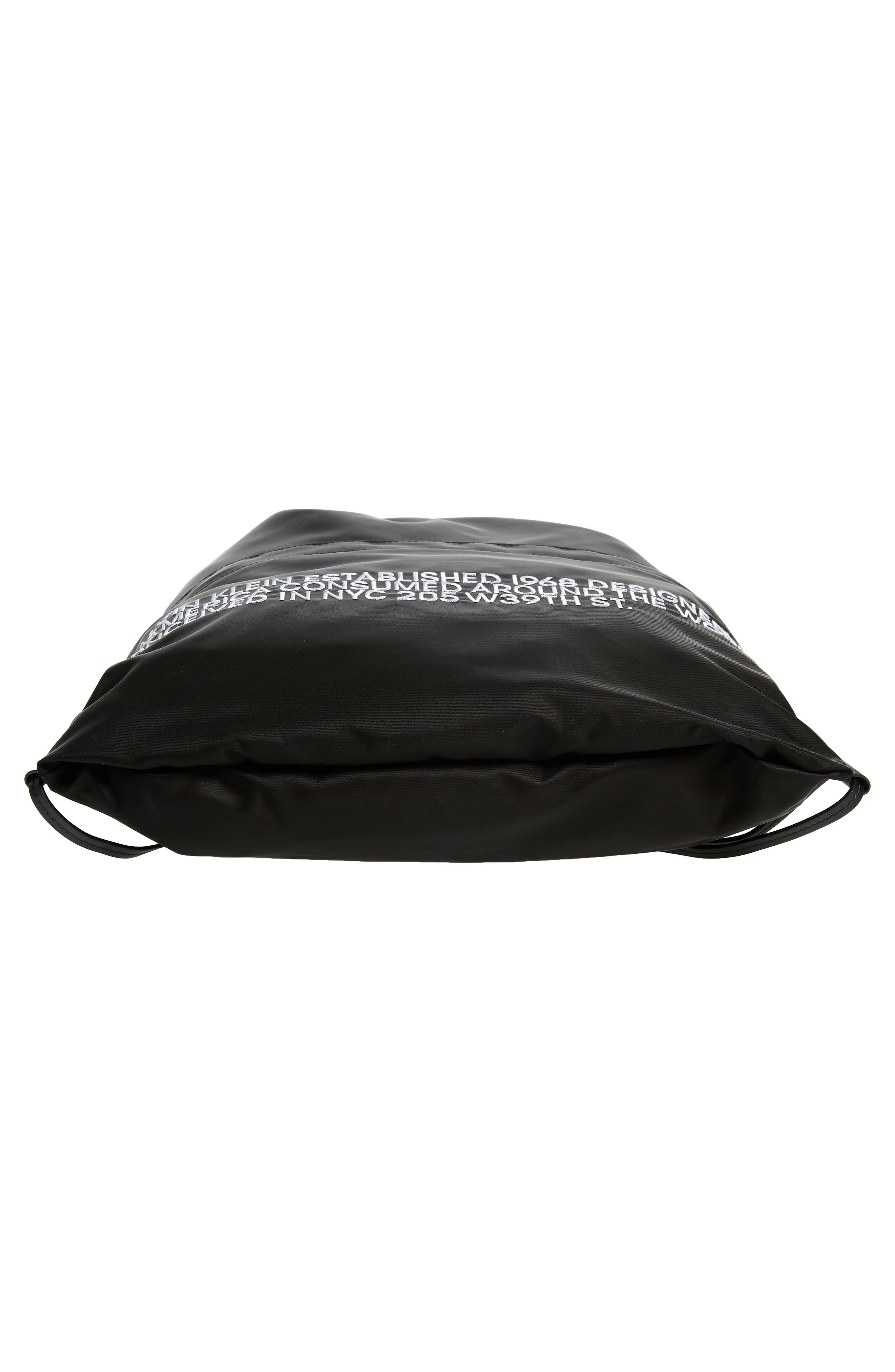 Drawstring Backpack,                             Alternate thumbnail 6, color,                             BLACK
