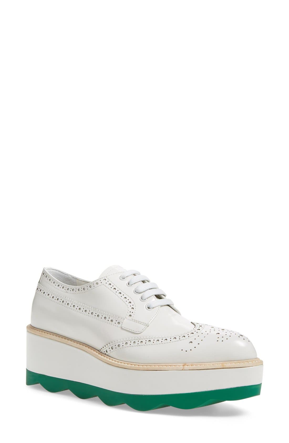 Scalloped Platform Oxford,                             Main thumbnail 3, color,