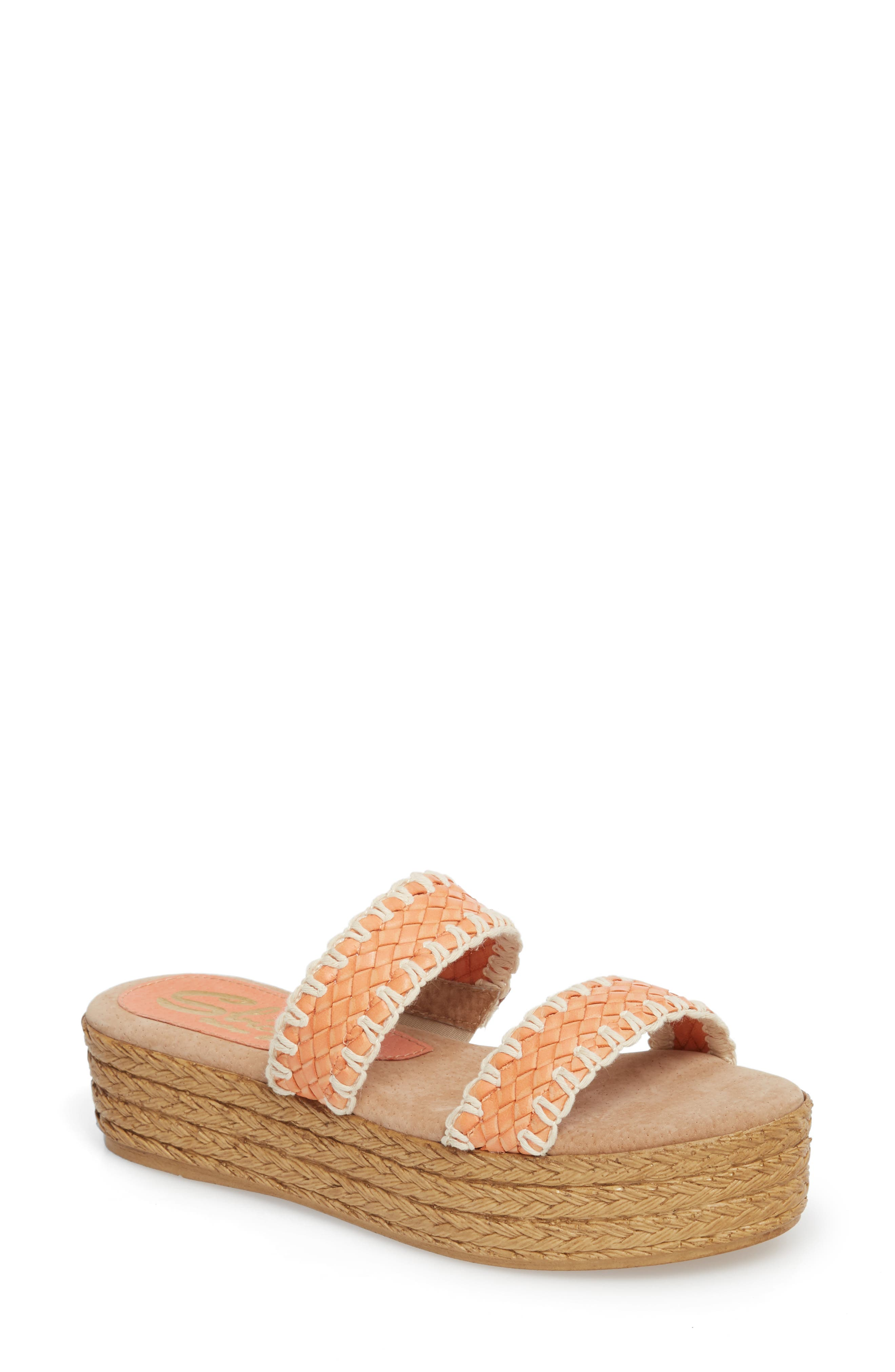 SBICCA Anette Slide Sandal, Main, color, CORAL