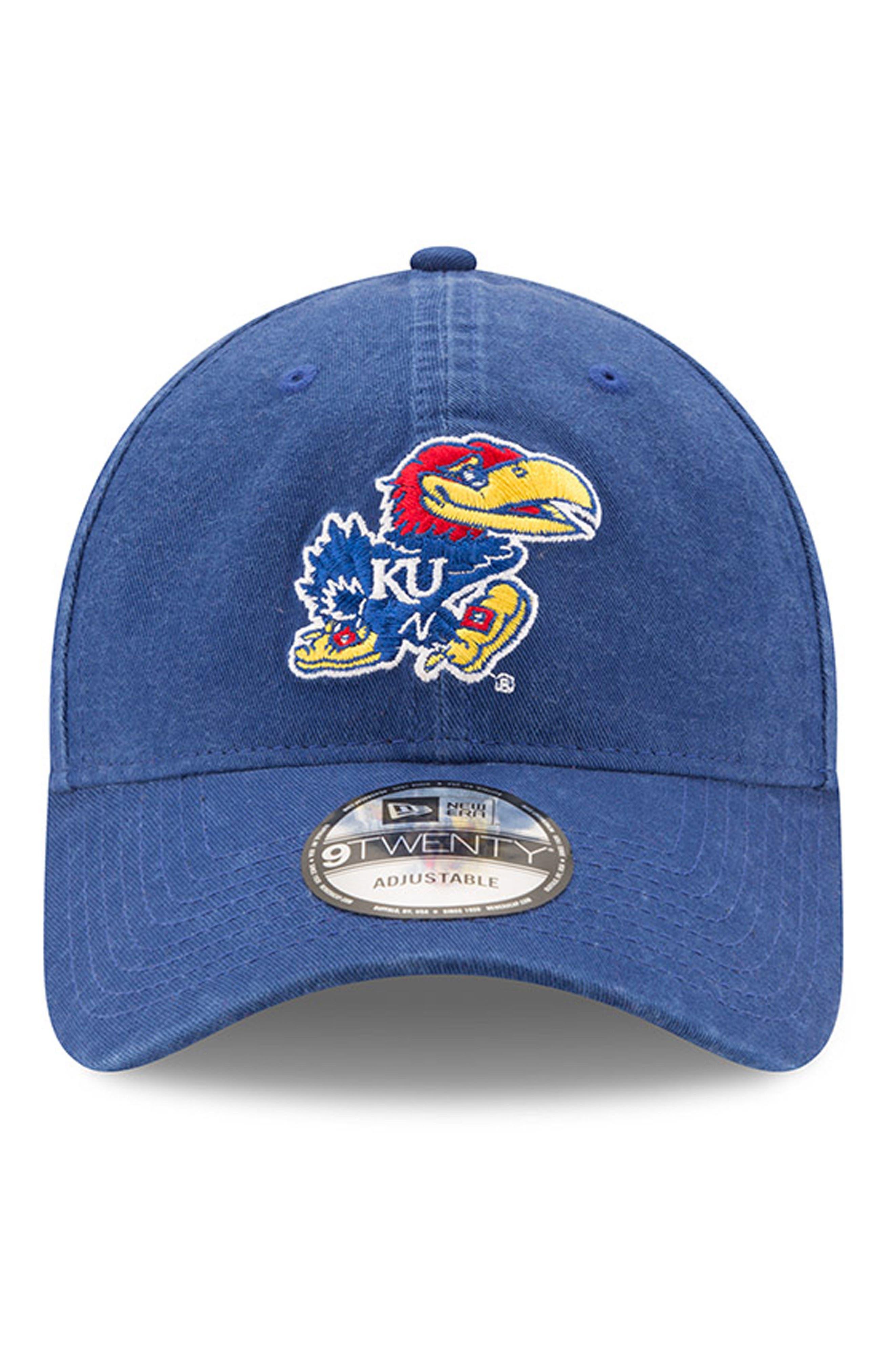 New Era Collegiate Core Classic - Kansas Jayhawks Baseball Cap,                             Alternate thumbnail 2, color,                             400