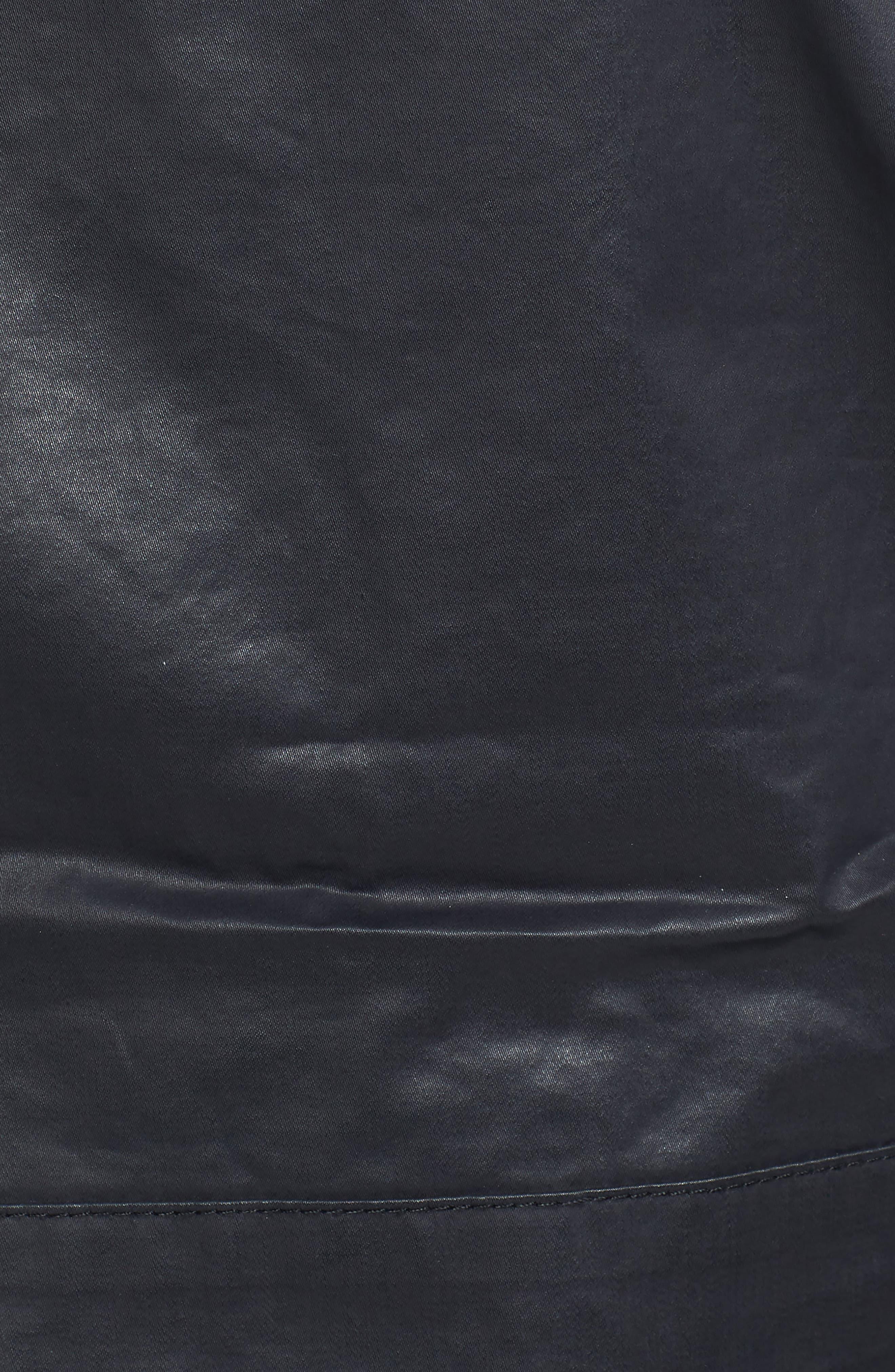 Edgeware Modern Fit Coated Moto Jacket,                             Alternate thumbnail 6, color,                             018
