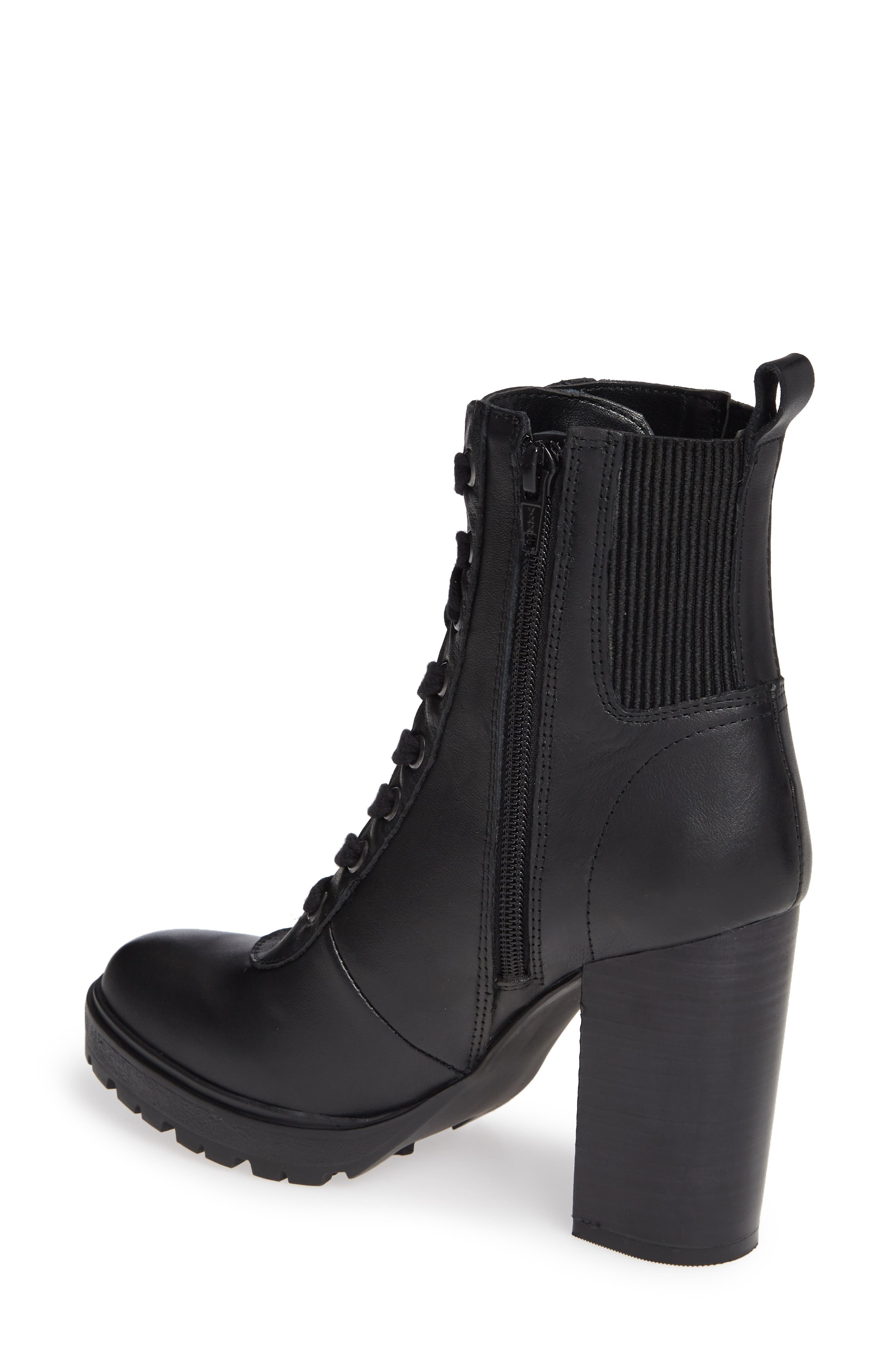 Latch Boot,                             Alternate thumbnail 2, color,                             BLACK LEATHER