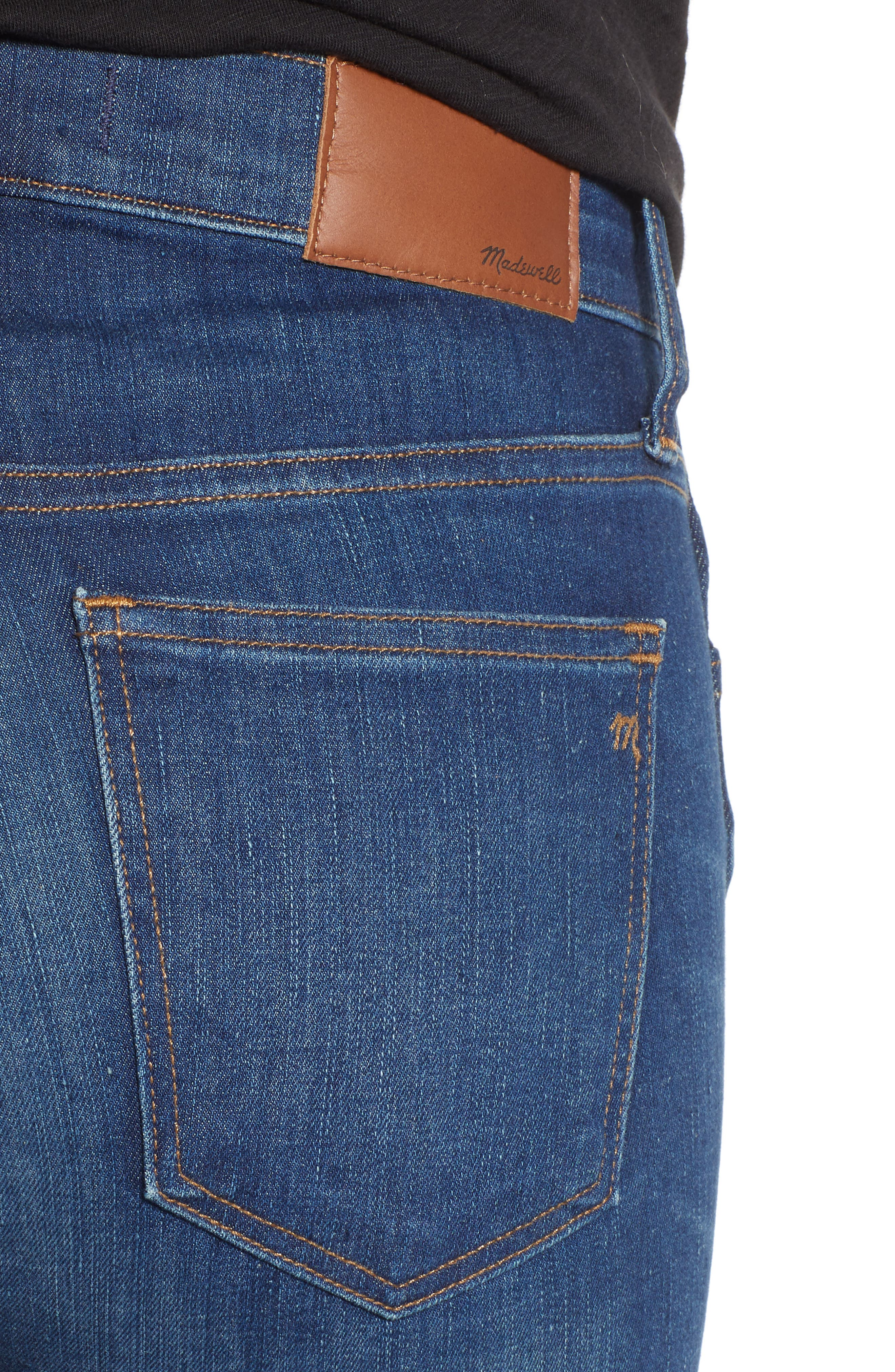 MADEWELL,                             9-Inch Skinny Jeans Raw Hem Edition,                             Alternate thumbnail 5, color,                             PALOMA