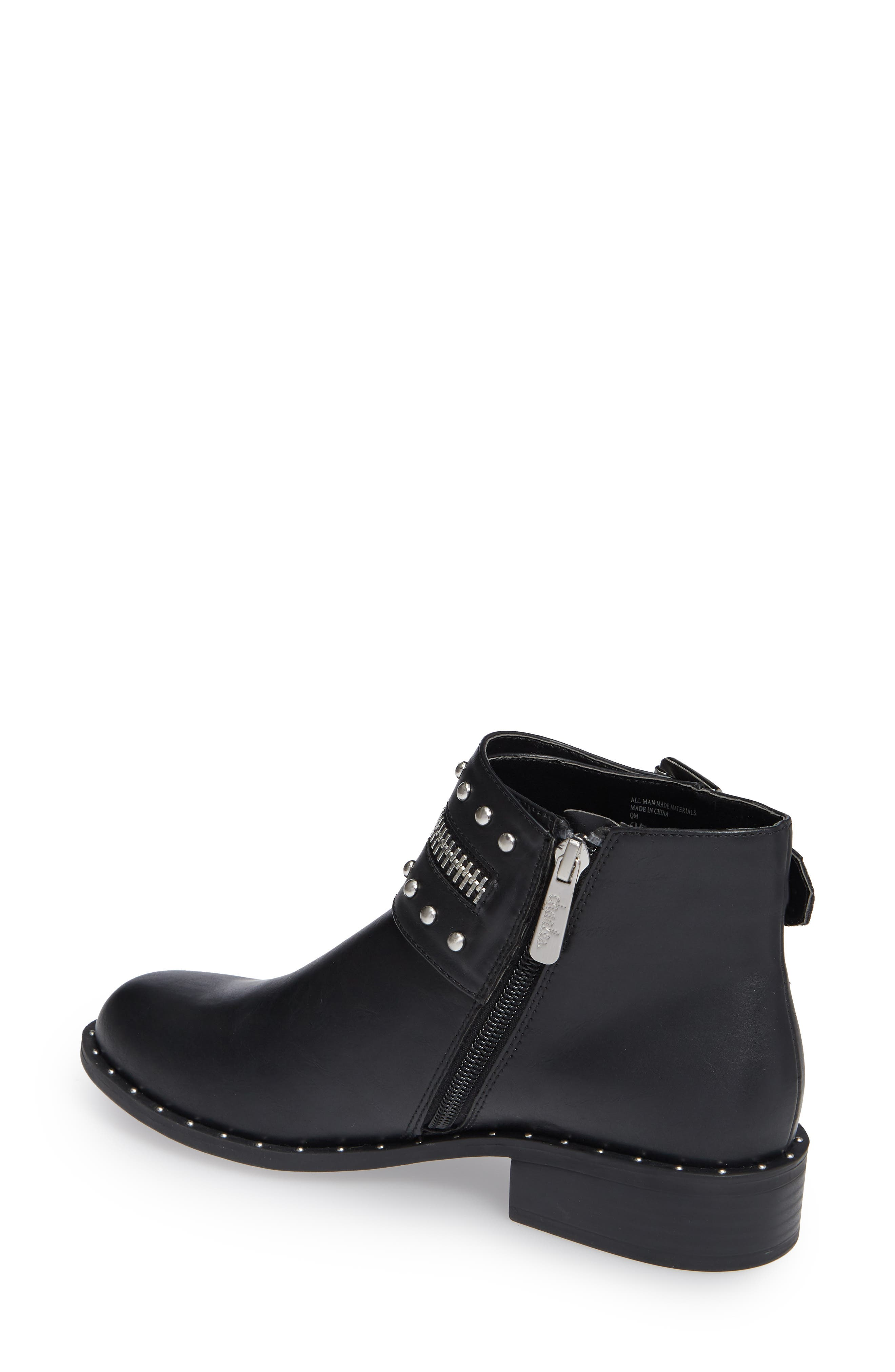 Thief Studded Bootie,                             Alternate thumbnail 2, color,                             BLACK SYNTHETIC