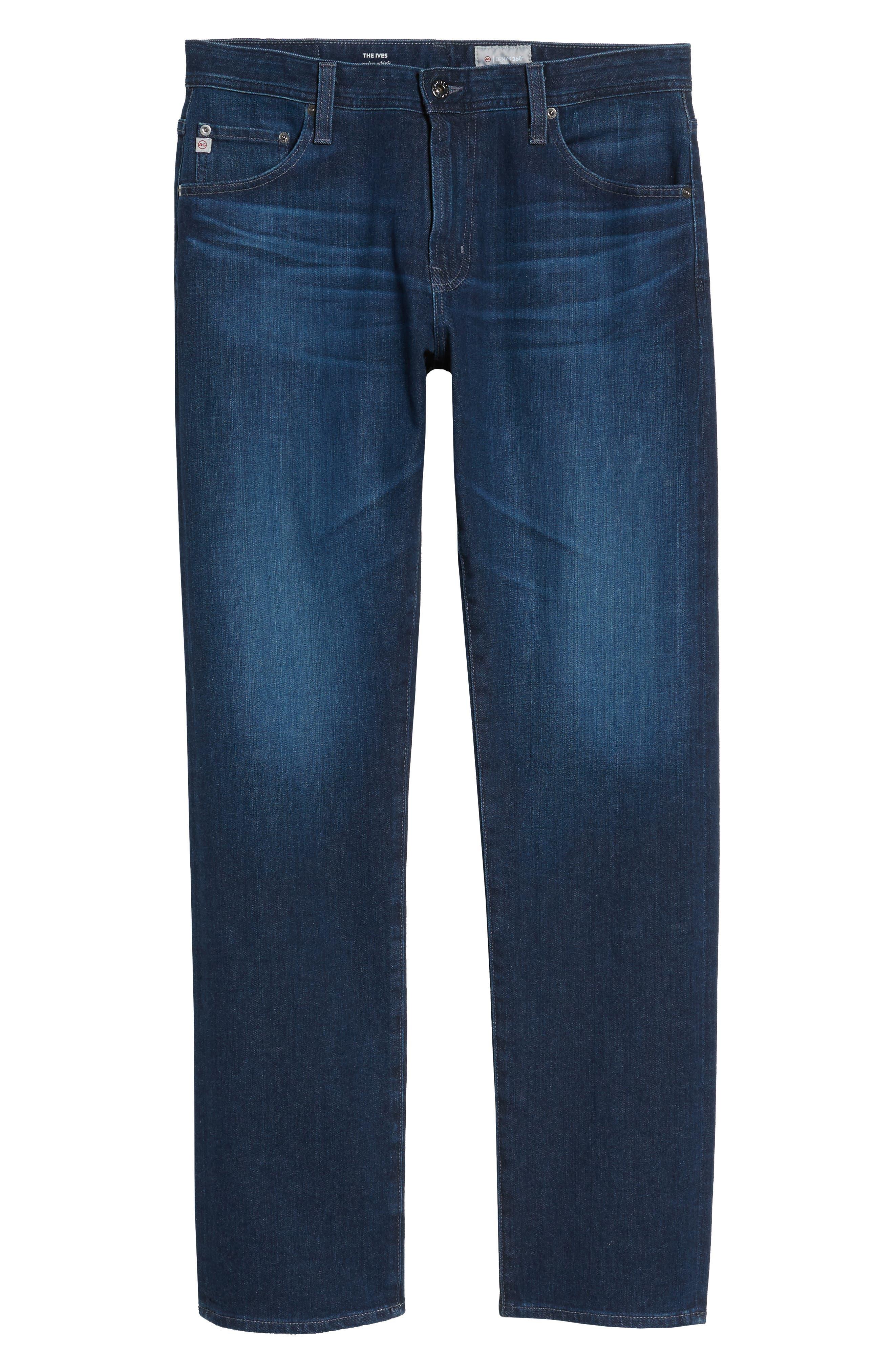 Ives Straight Leg Jeans,                             Alternate thumbnail 6, color,                             407