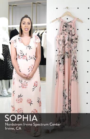 Belted Chiffon Halter Maxi Dress, sales video thumbnail