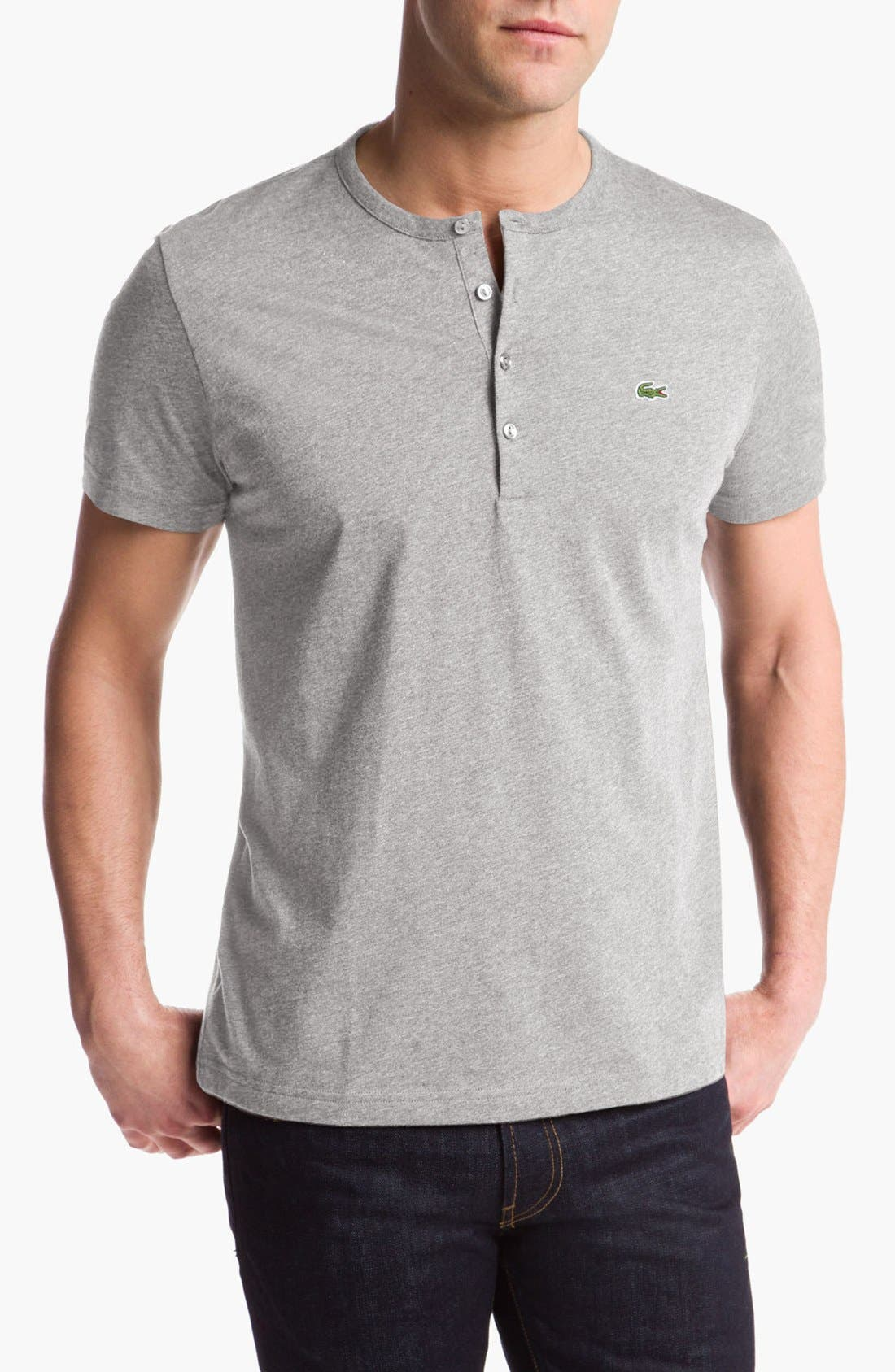 Lacoste Short Sleeve Henley T-Shirt & AG Slim Fit Jeans,                             Main thumbnail 2, color,