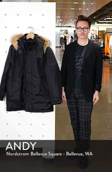 Lafayette Genuine Fur Trim Hooded Parka, sales video thumbnail