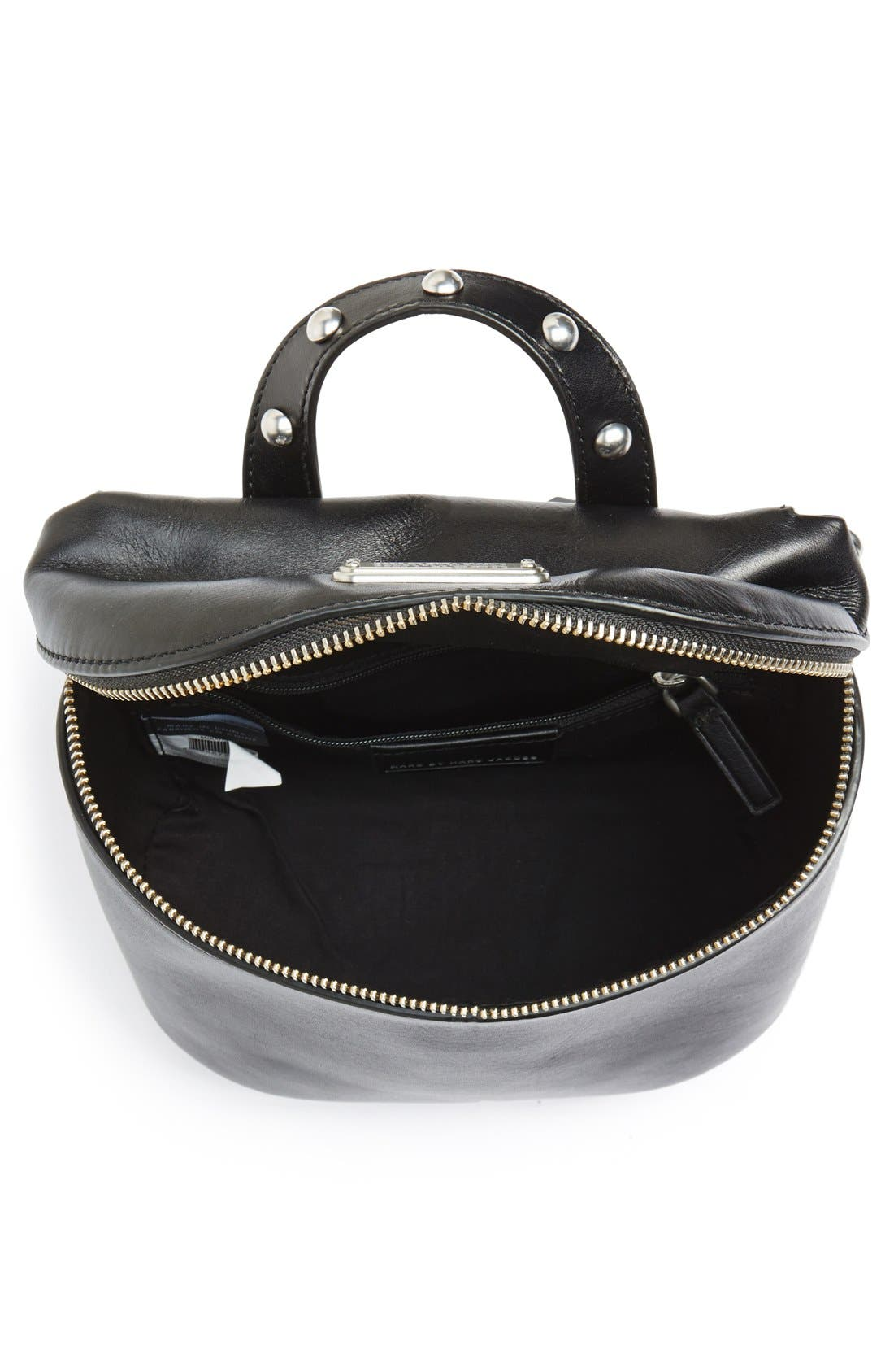 MARC BY MARC JACOBS 'Canteen Rivets' Crossbody Bag,                             Alternate thumbnail 5, color,                             001