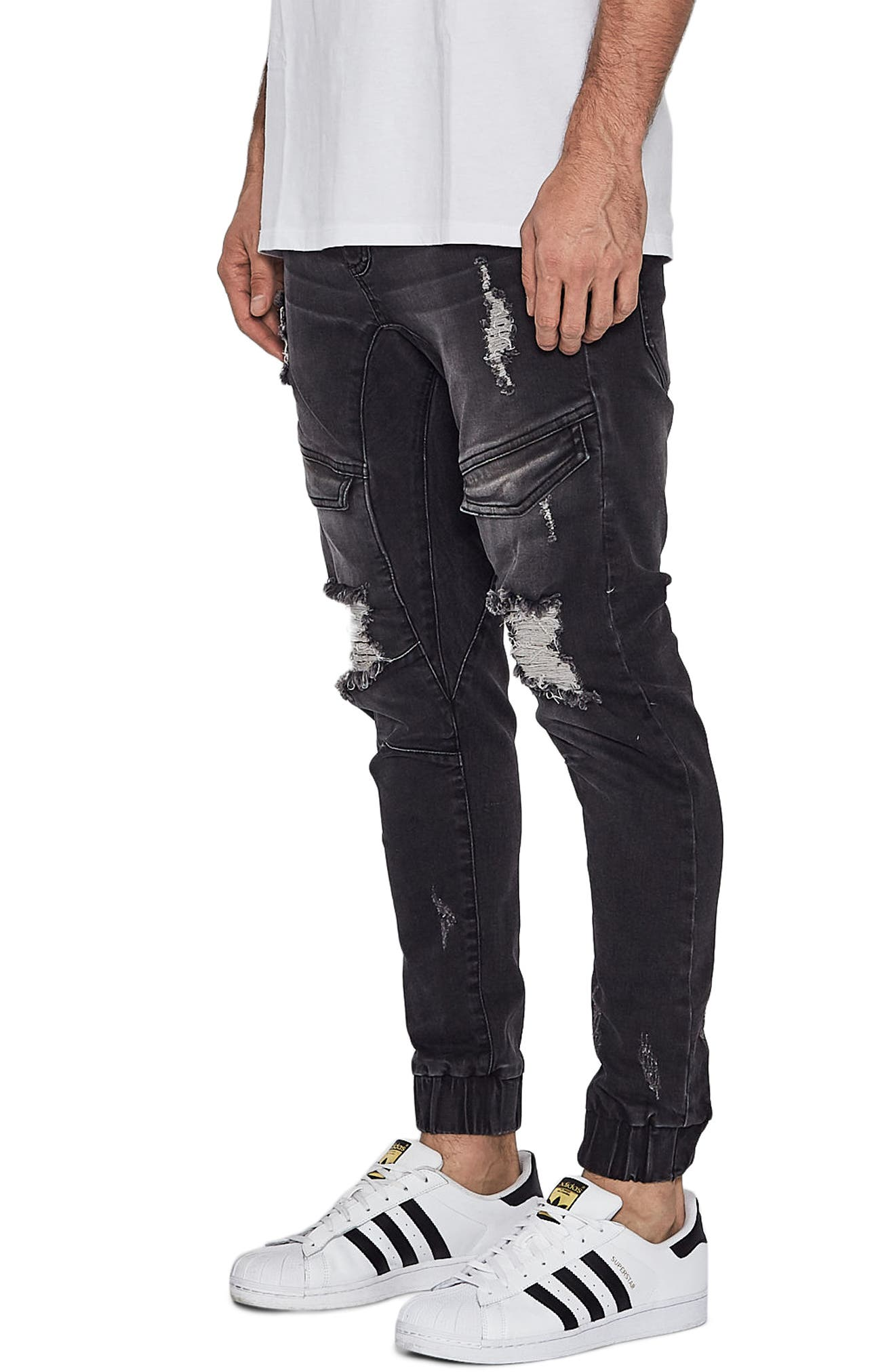 Flight Skinny Denim Jogger Pants,                             Alternate thumbnail 17, color,