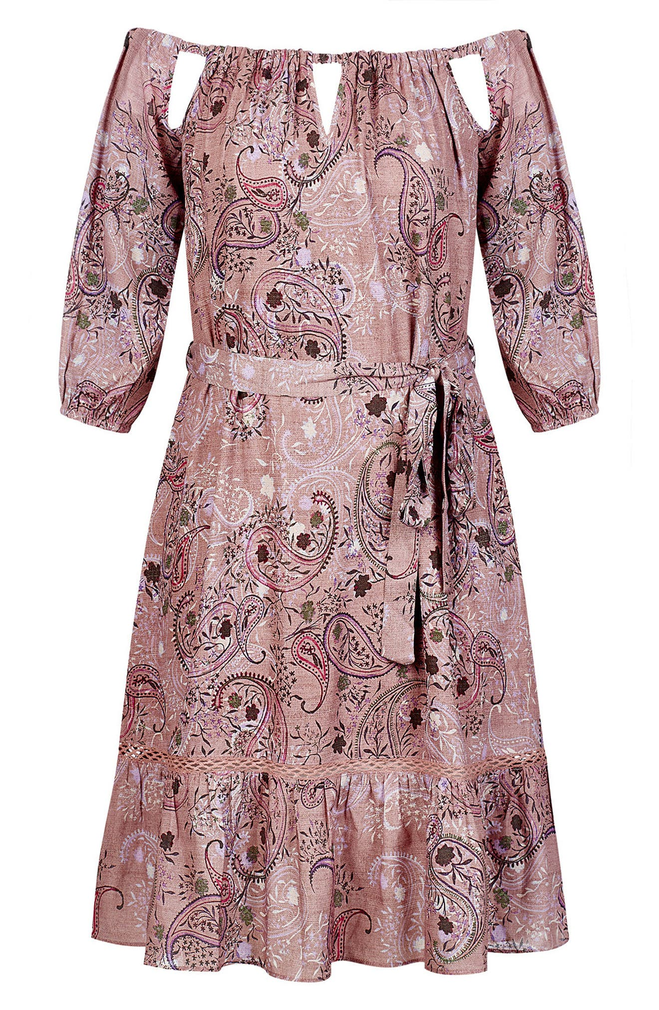 Luxe Paisley Dress,                             Alternate thumbnail 3, color,                             LUXE PAISLEY