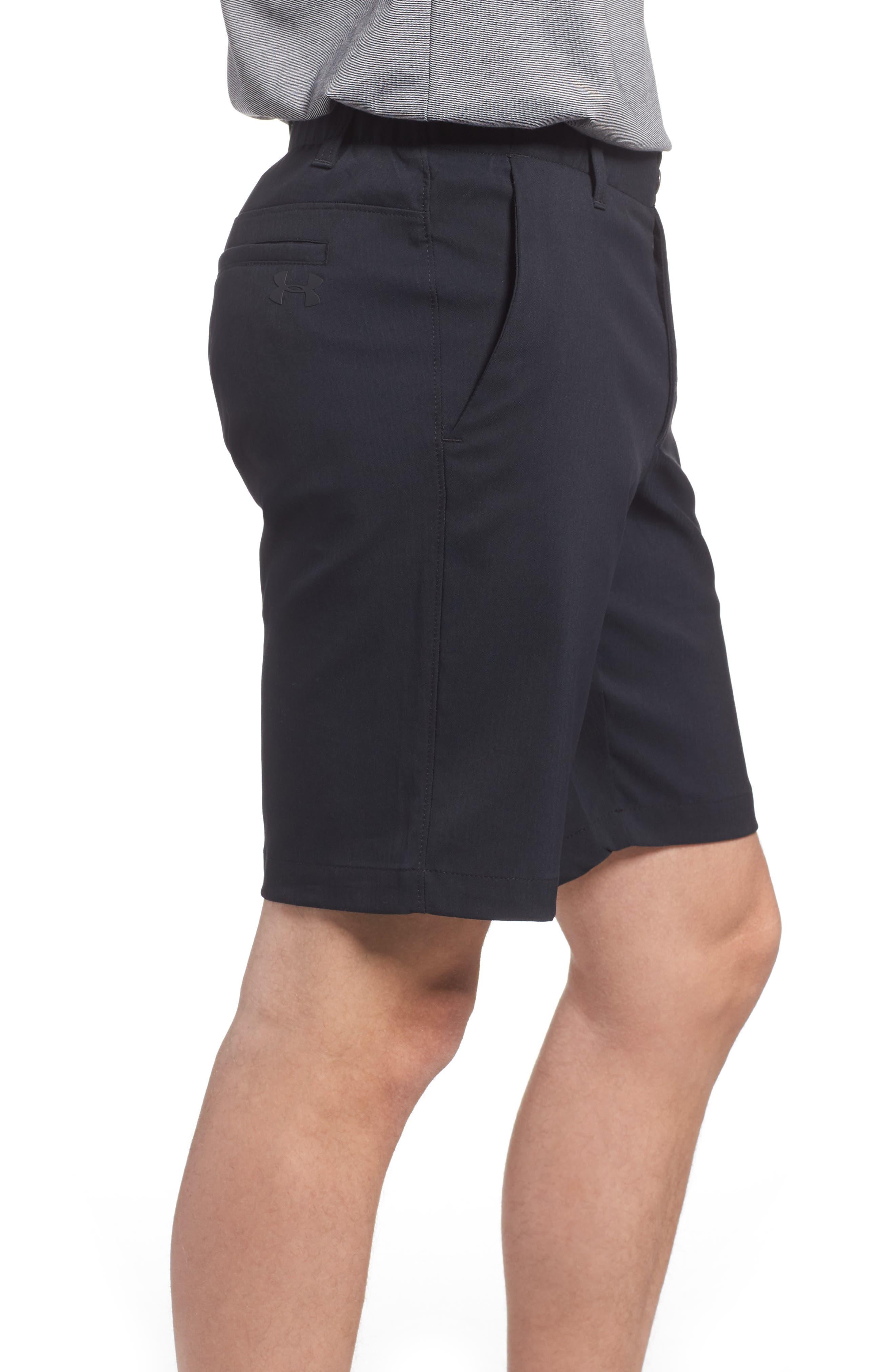 Takeover Regular Fit Golf Shorts,                             Alternate thumbnail 3, color,                             BLACK
