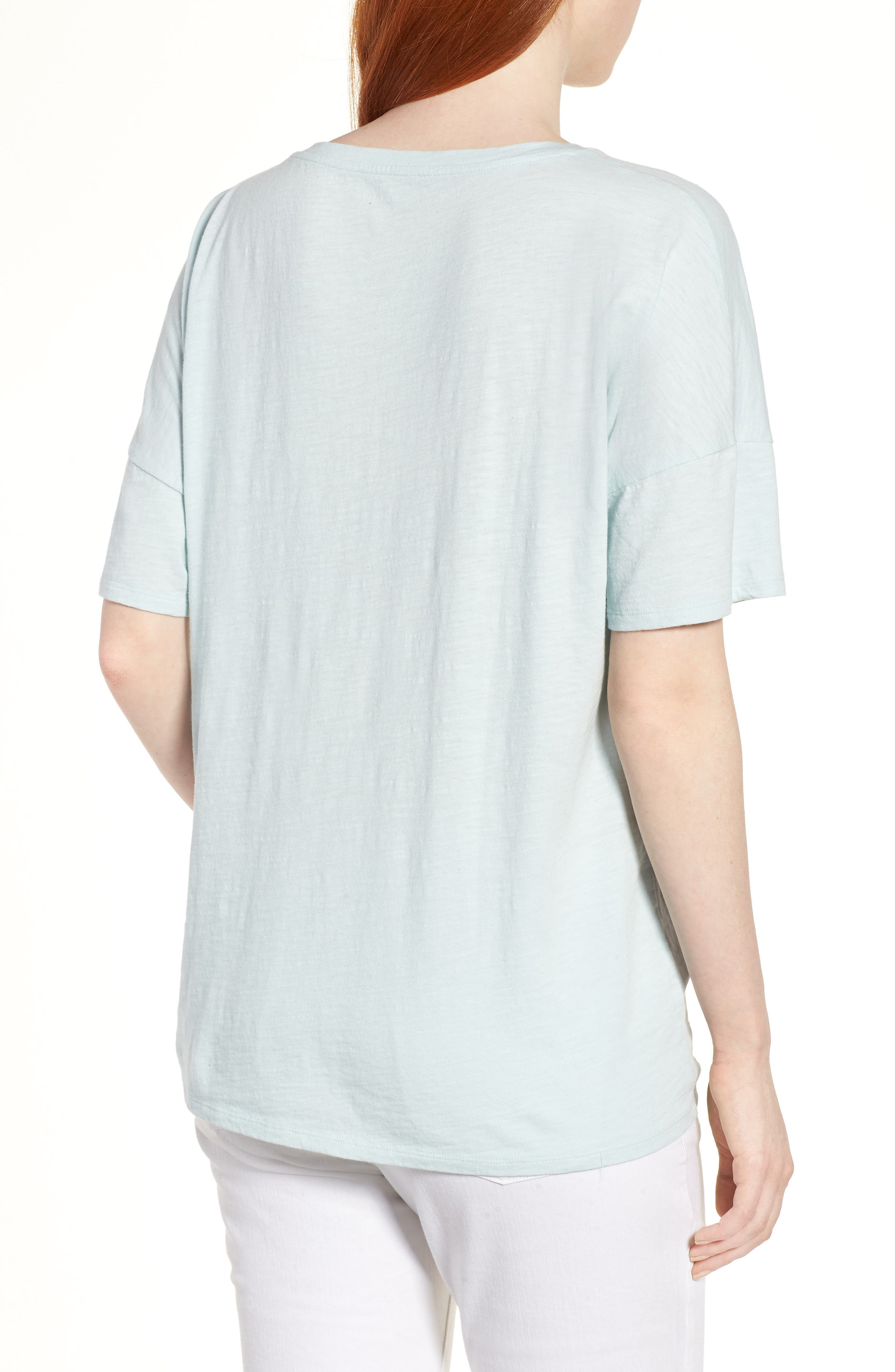 Tie Hem Organic Cotton Tee,                             Alternate thumbnail 9, color,
