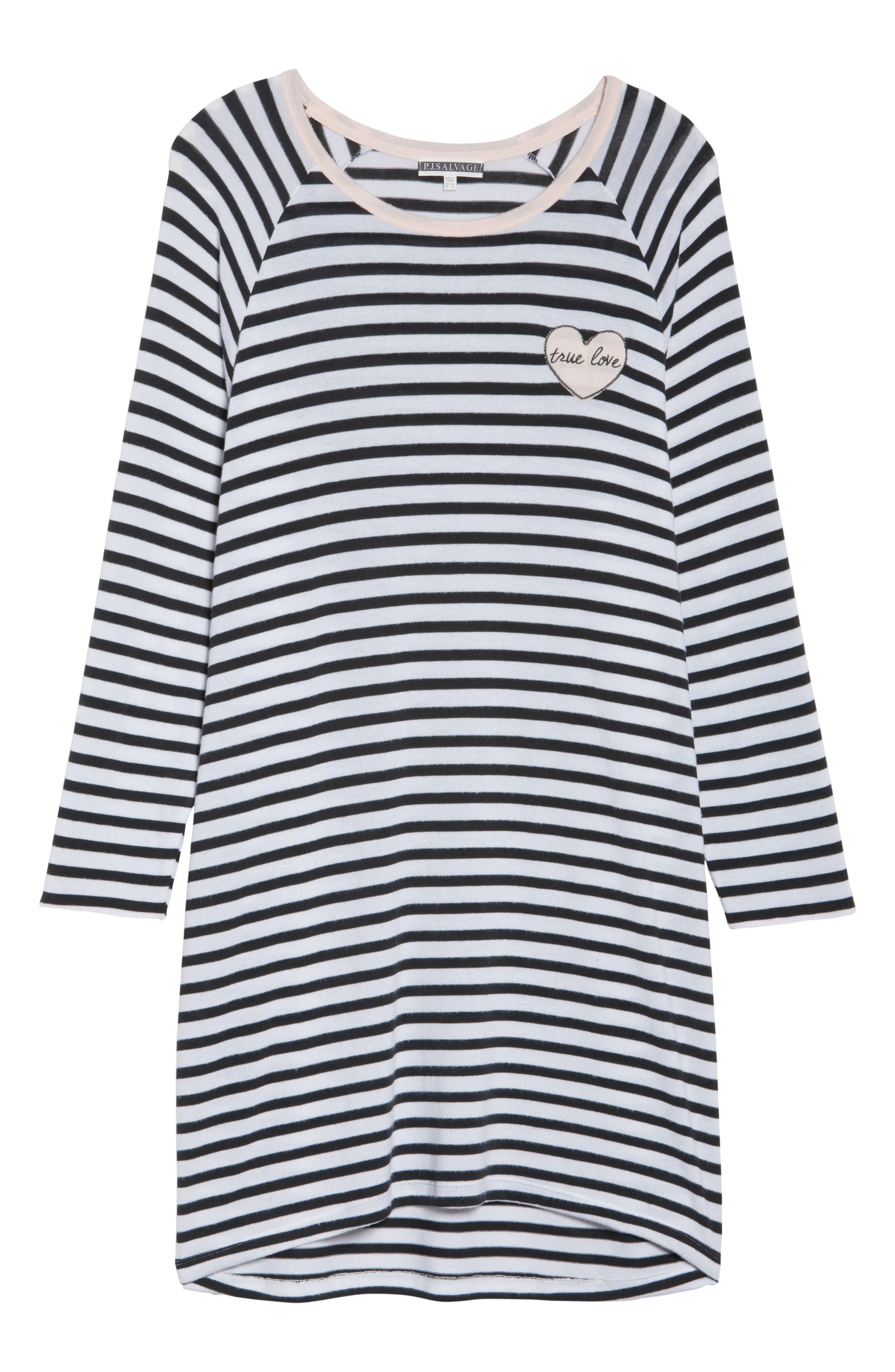 Stripe Peachy Jersey Nightshirt,                             Alternate thumbnail 6, color,                             900