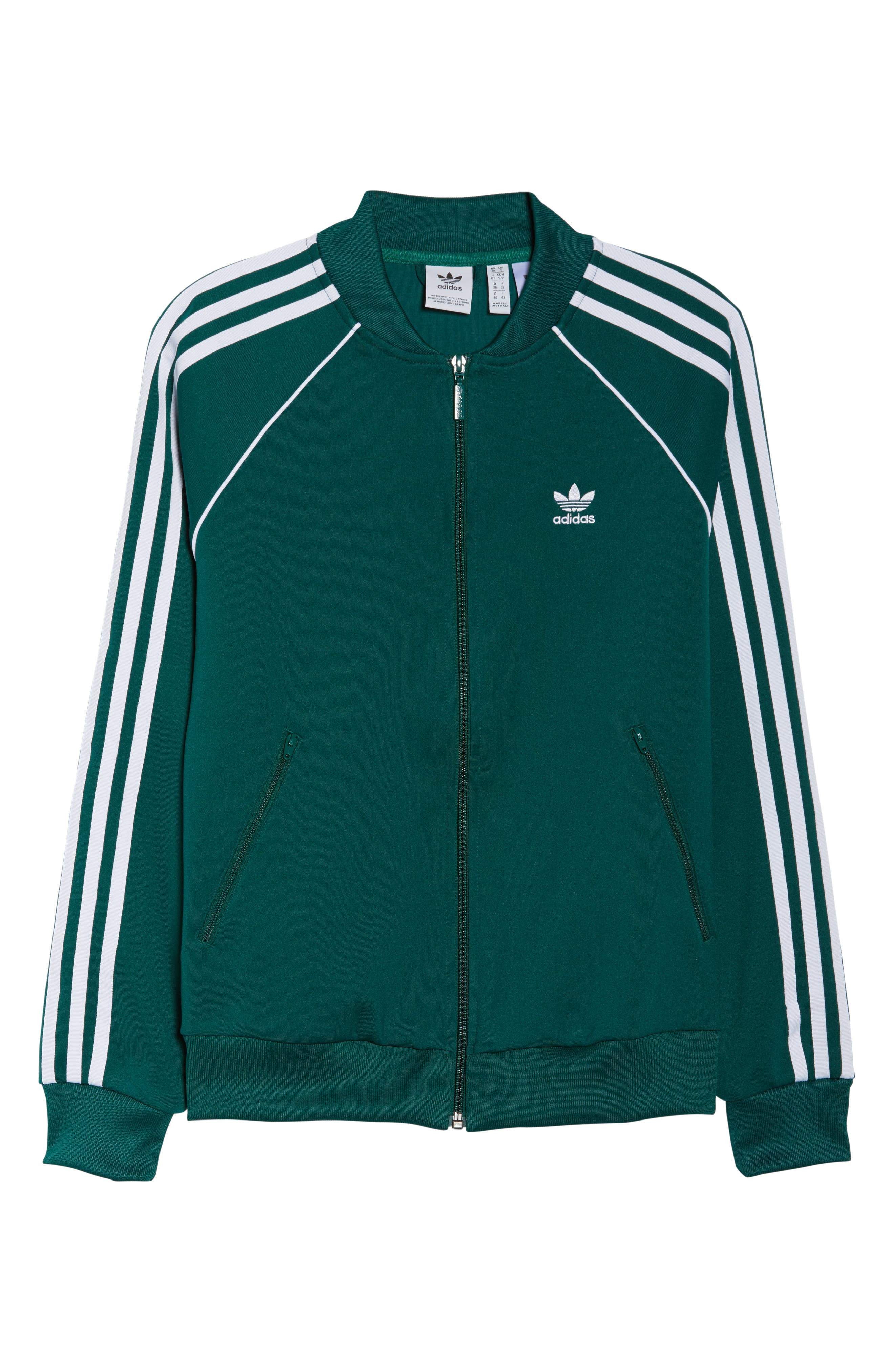 adidas SST Track Jacket,                             Alternate thumbnail 6, color,                             305