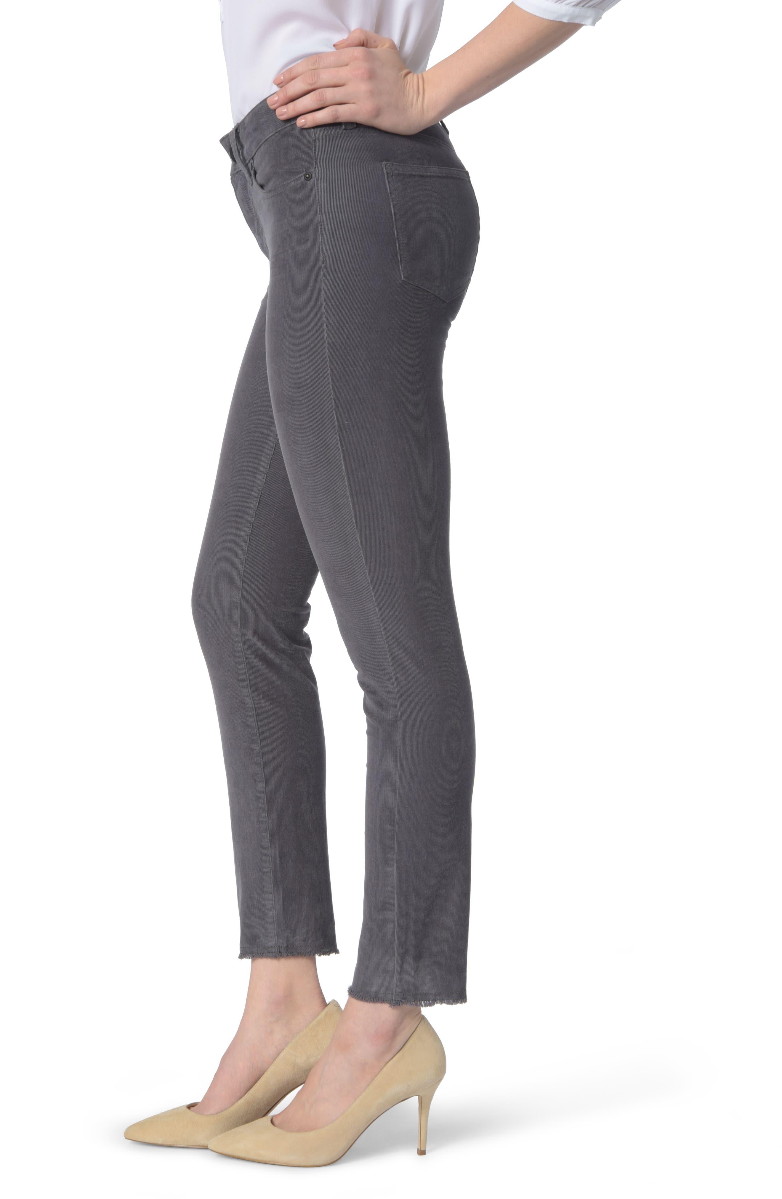 NYDJ,                             Alina Frayed Stretch Corduroy Ankle Jeans,                             Alternate thumbnail 3, color,                             038