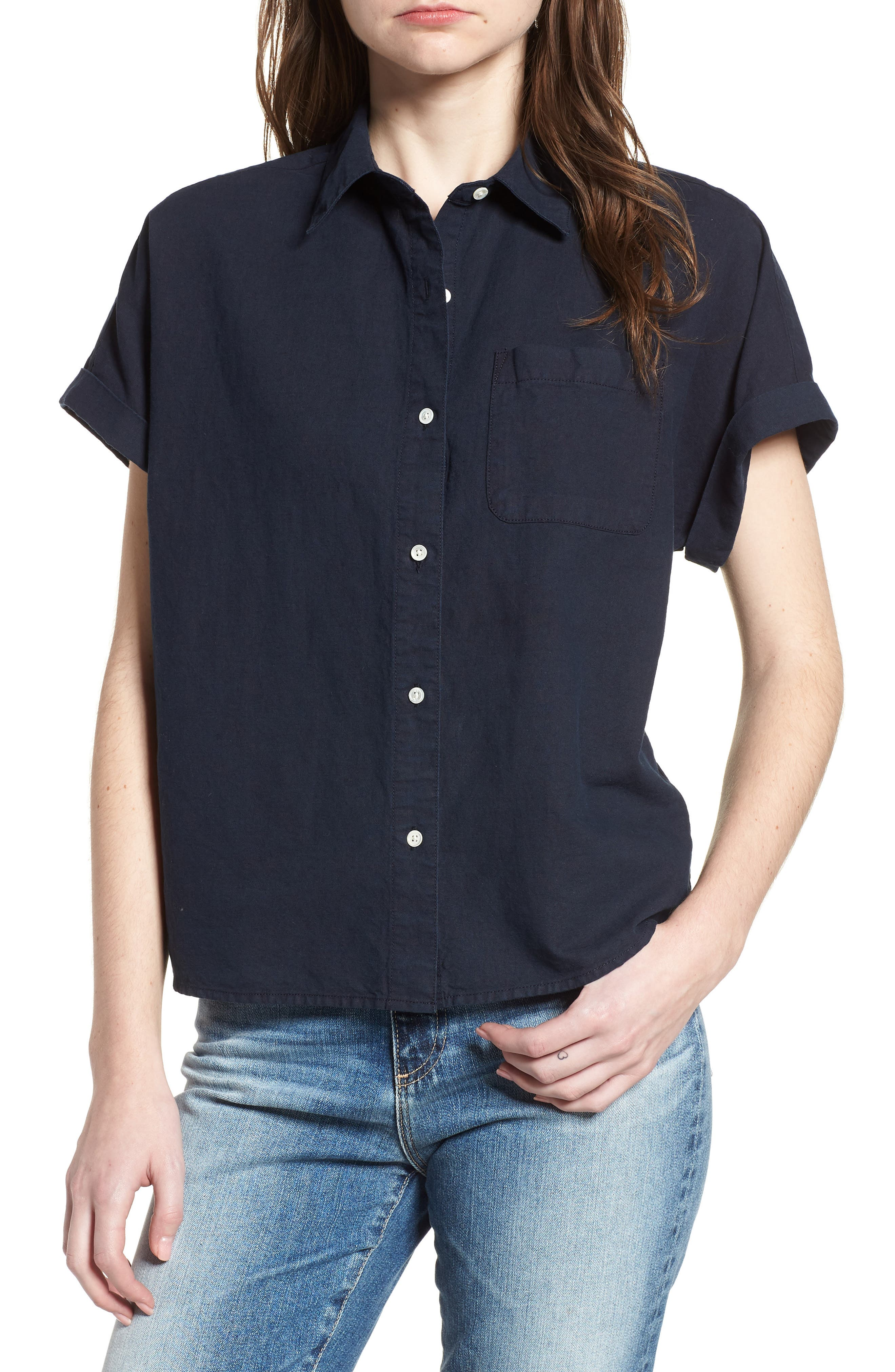 Hadley Shirt,                         Main,                         color, SULFUR DARK COVE