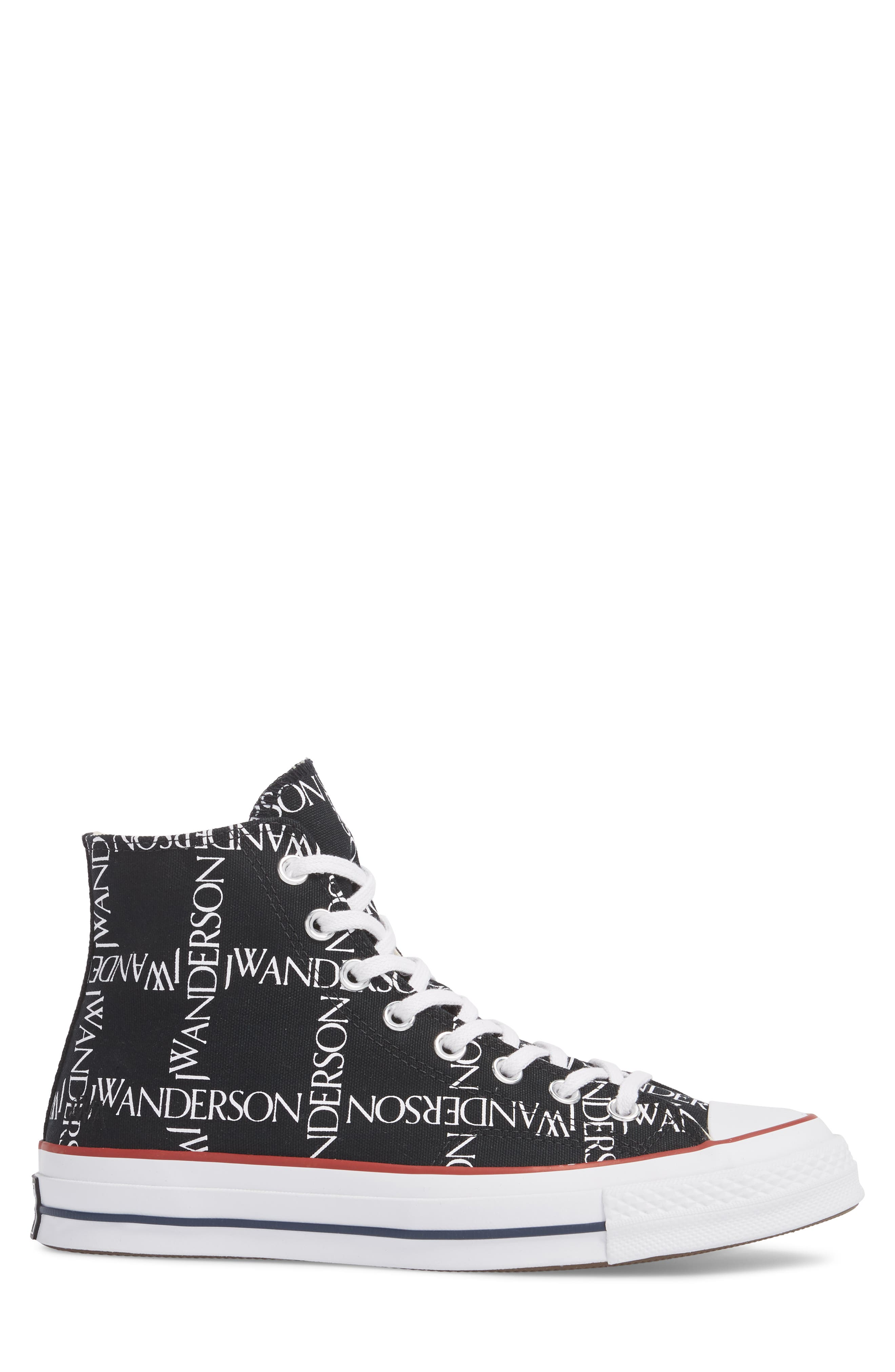 x JW Anderson Chuck Taylor<sup>®</sup> All Star<sup>®</sup> 70 Grid Sneaker,                             Alternate thumbnail 3, color,                             BLACK CANVAS