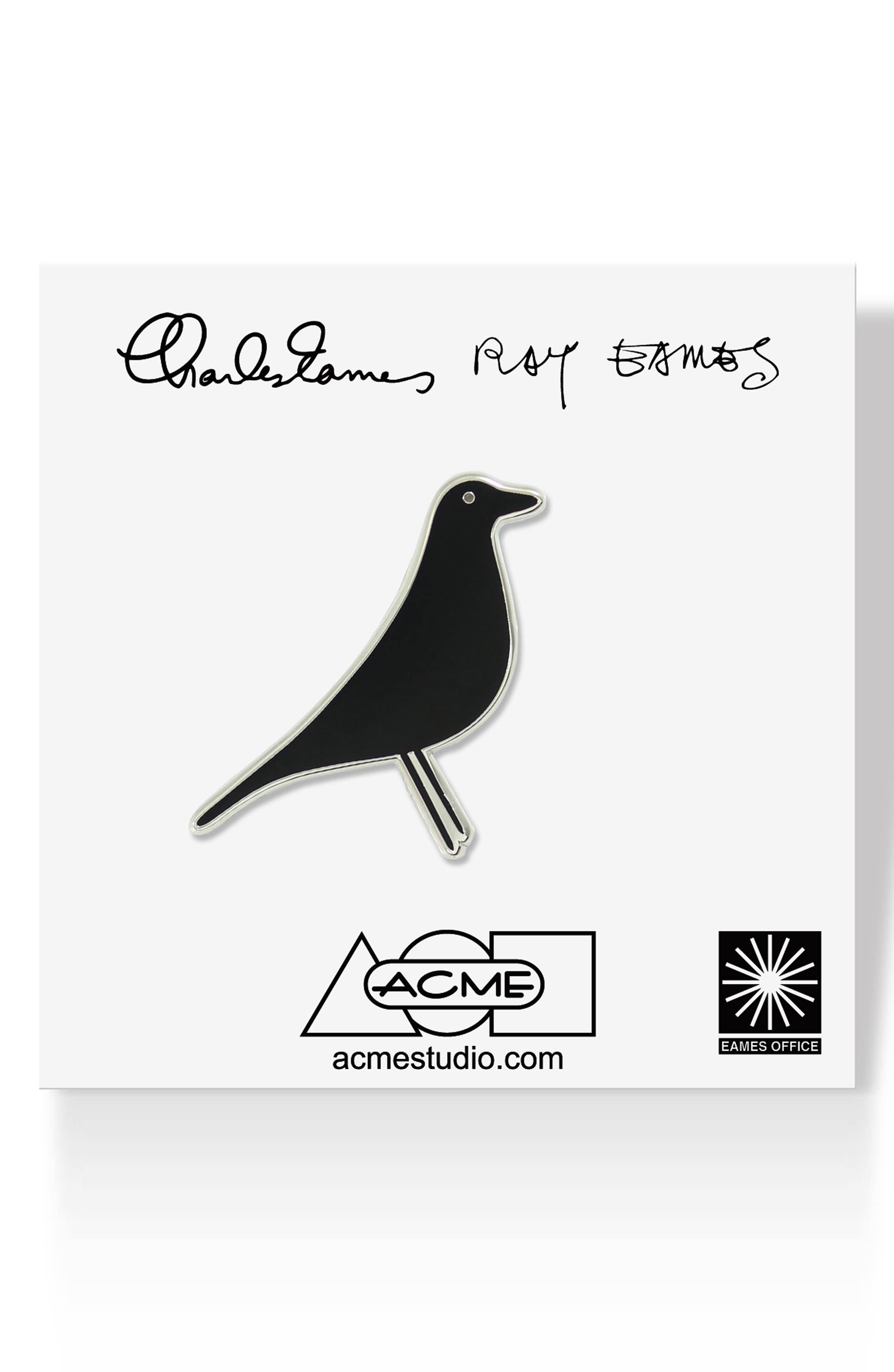 House Bird Pin,                             Main thumbnail 1, color,                             BLACK