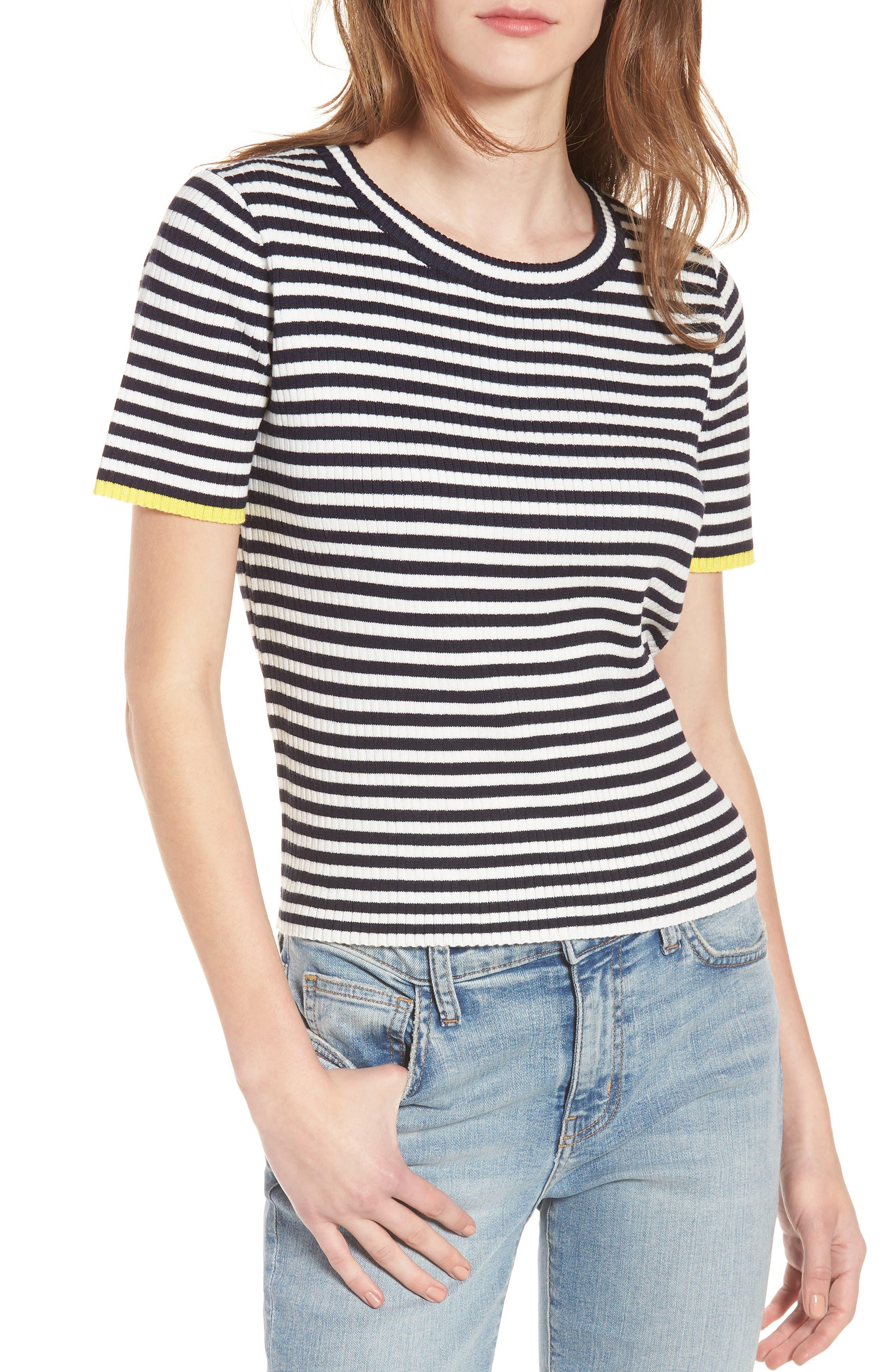 Stripe Knit Pullover,                         Main,                         color,