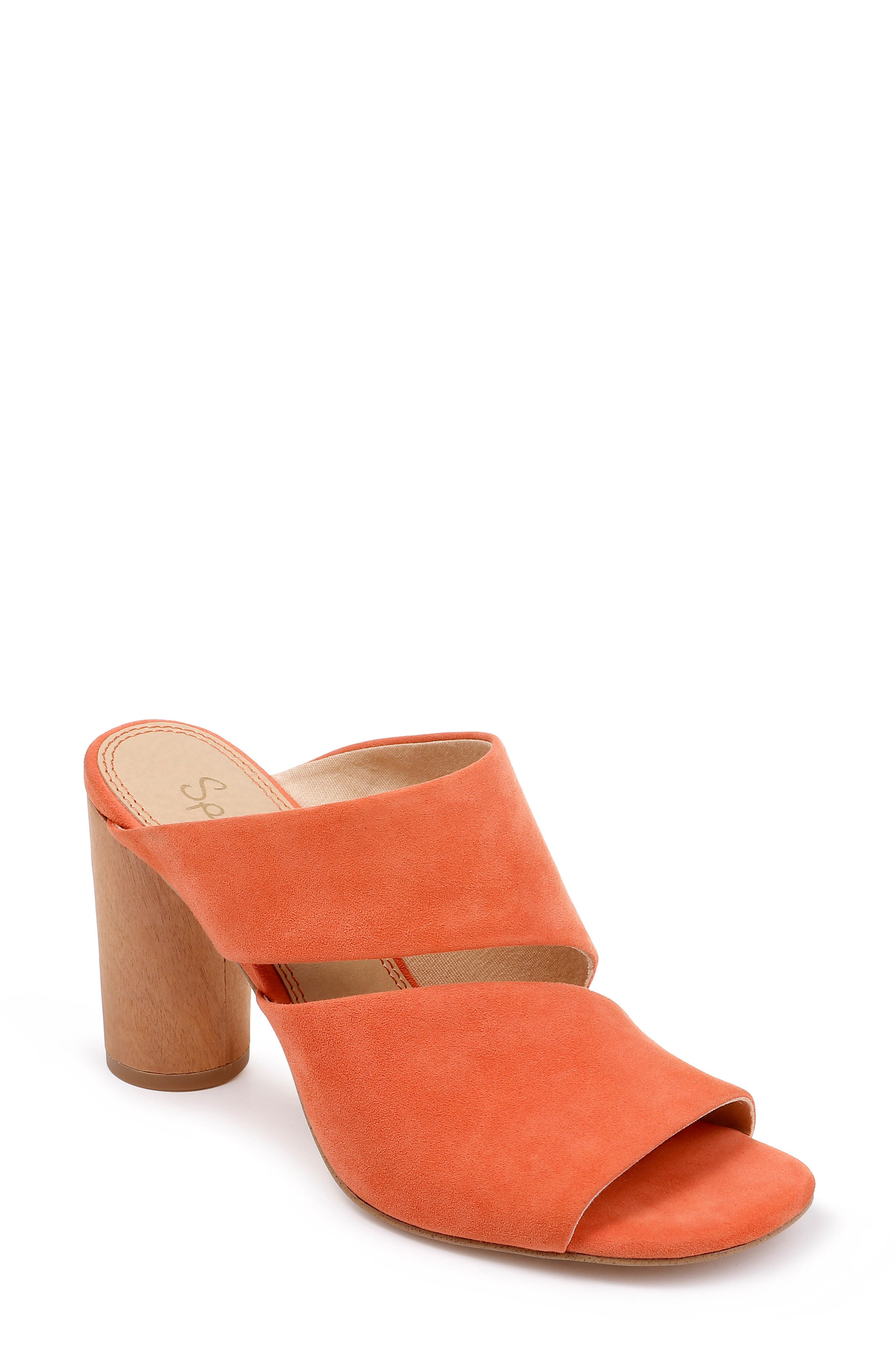 Serenade Sandal, Main, color, ORANGE SUEDE