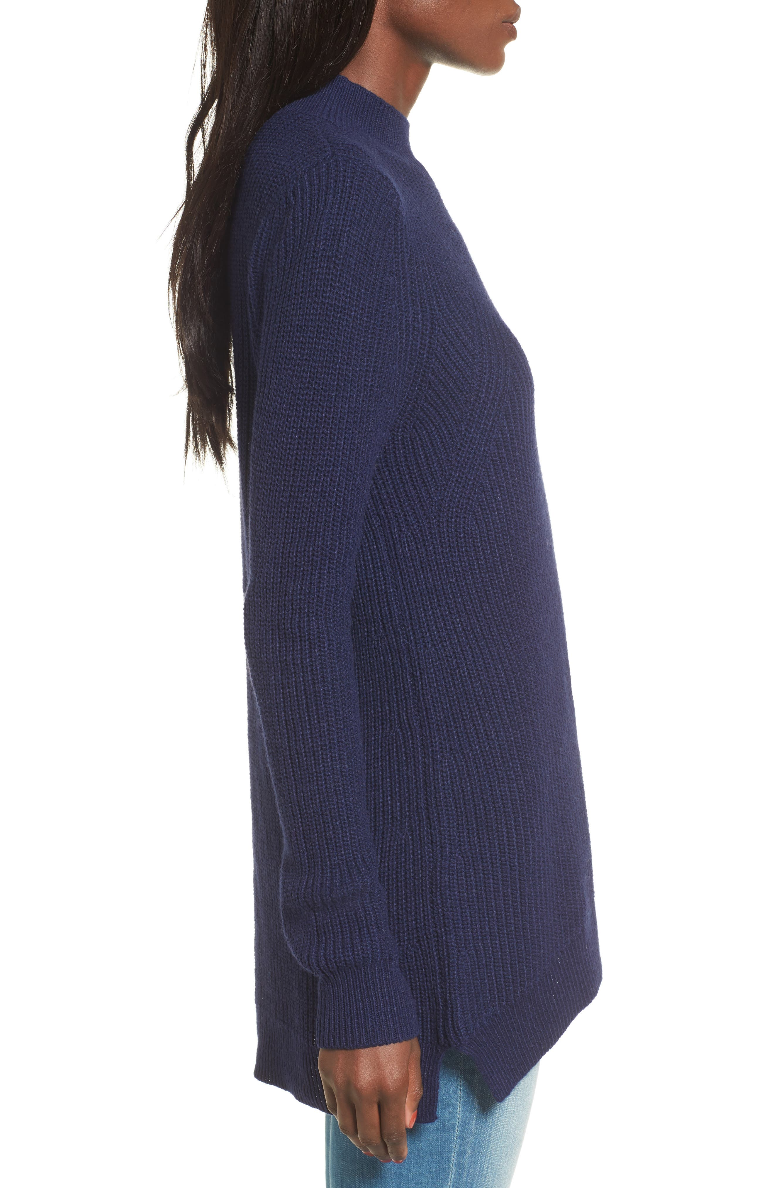 Mock Neck Tunic Sweater,                             Alternate thumbnail 20, color,