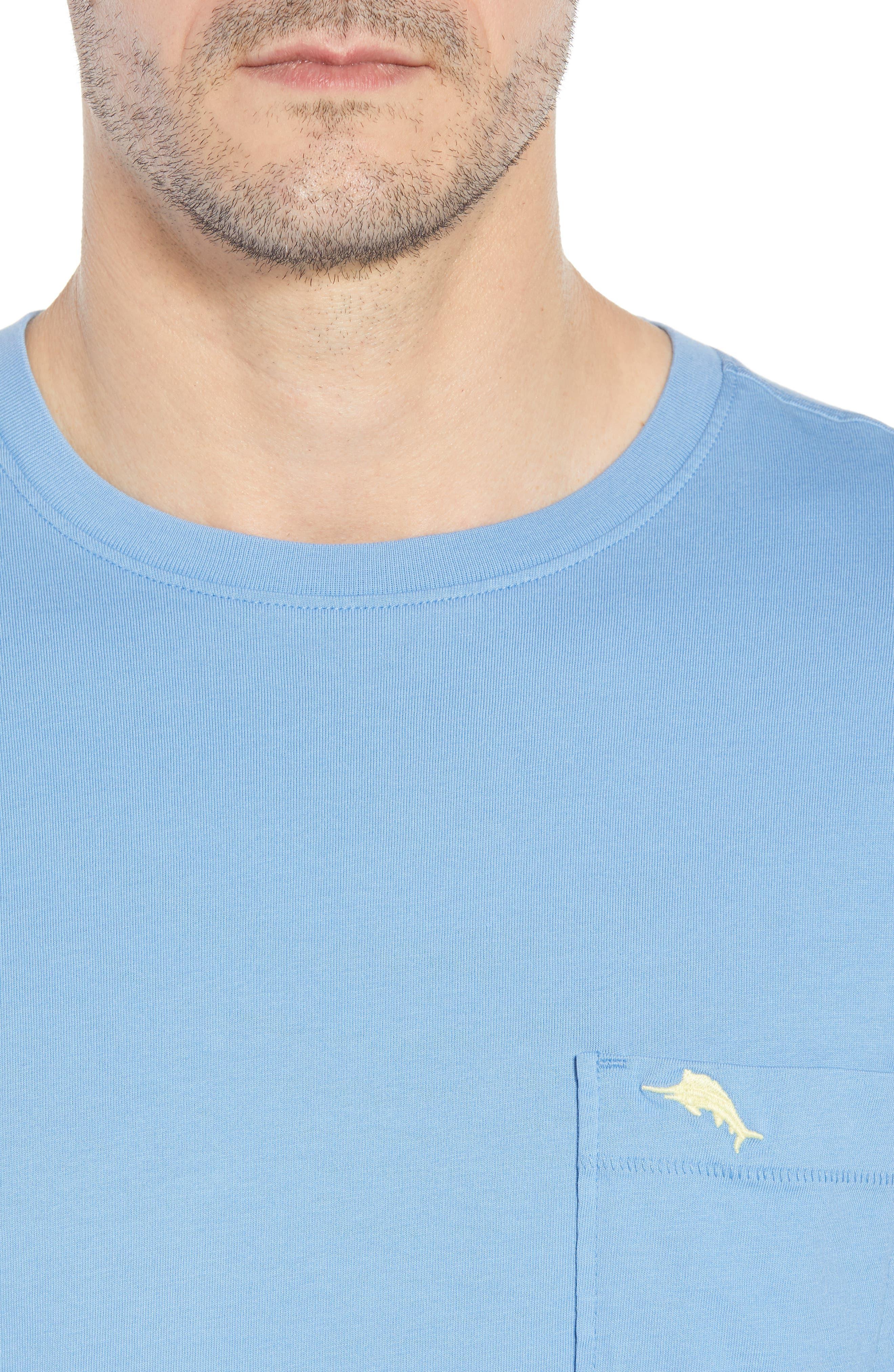 New Bali Sky Pima Cotton Pocket T-Shirt,                             Alternate thumbnail 101, color,