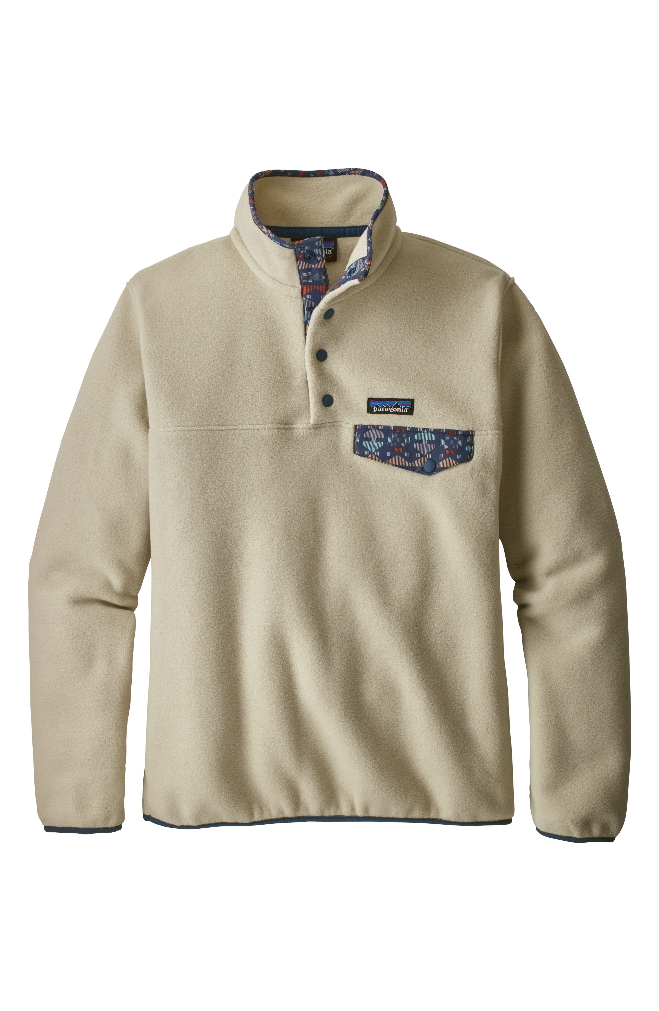 Synchilla Snap-T<sup>®</sup> Fleece Pullover,                             Alternate thumbnail 6, color,                             PELICAN W/ STONE BLUE