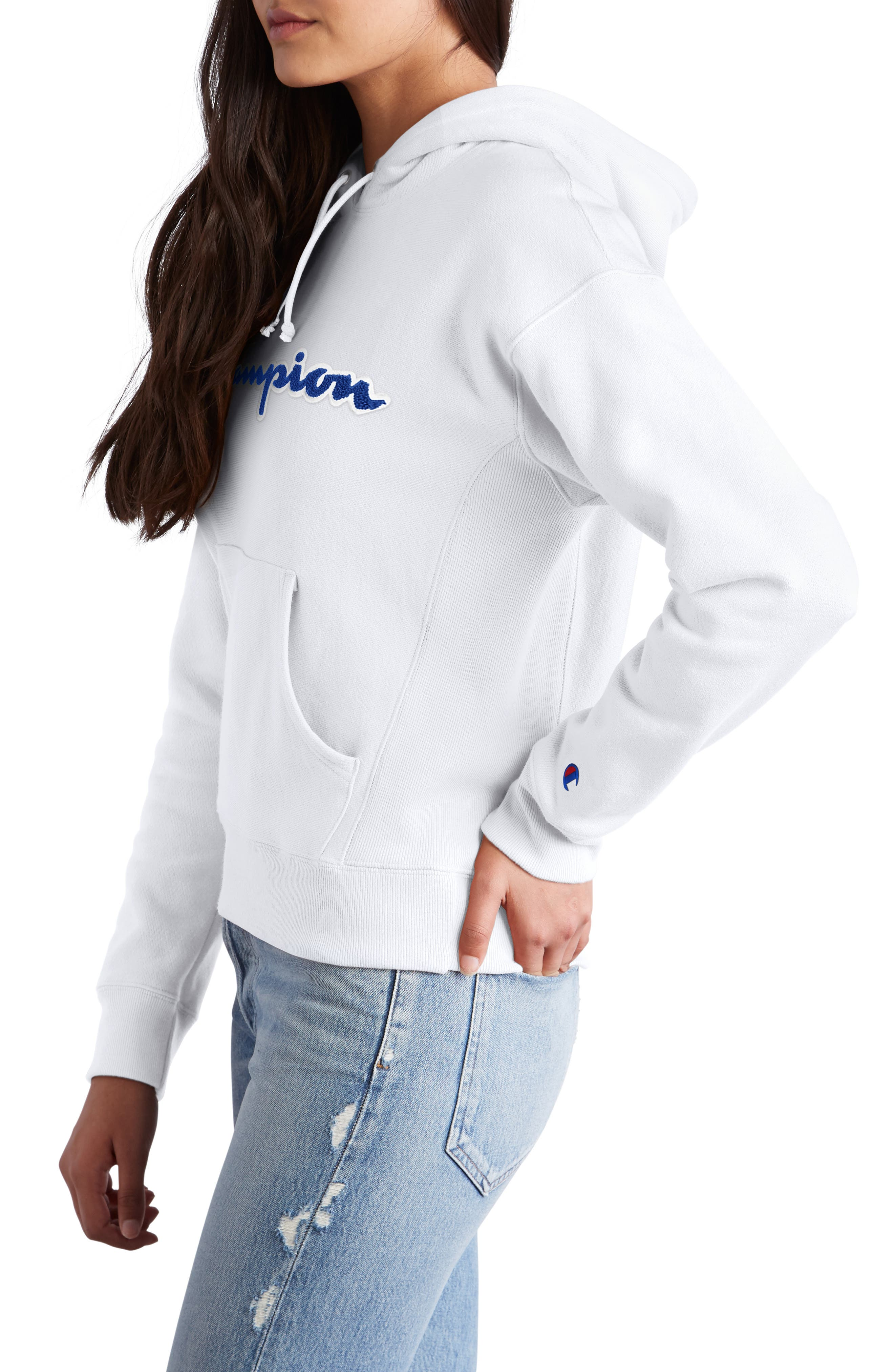 Logo Appliqué Hoodie,                             Alternate thumbnail 3, color,                             100