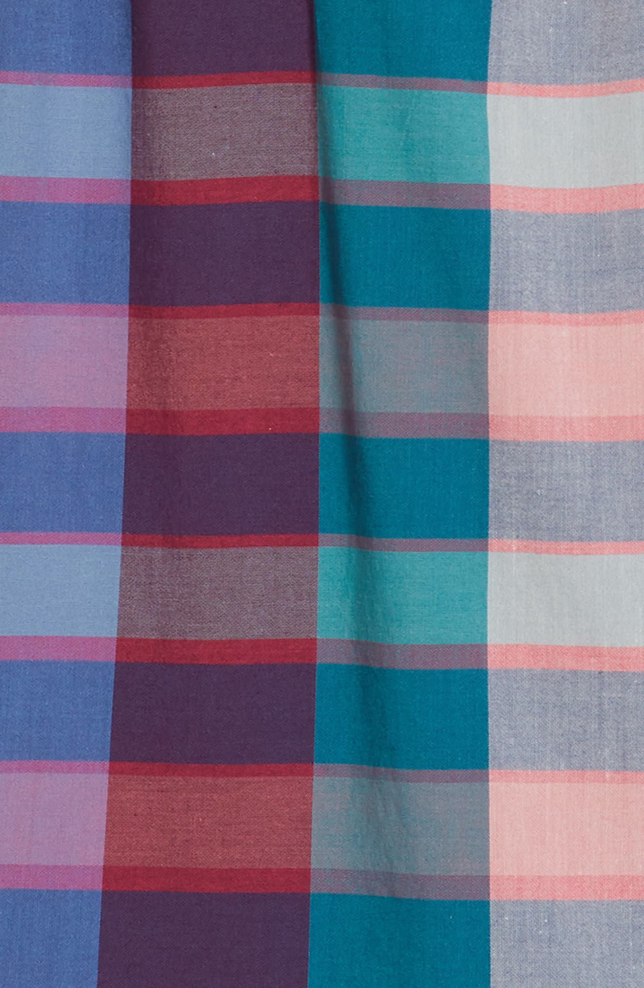 Classic Plaid Dress,                             Alternate thumbnail 3, color,