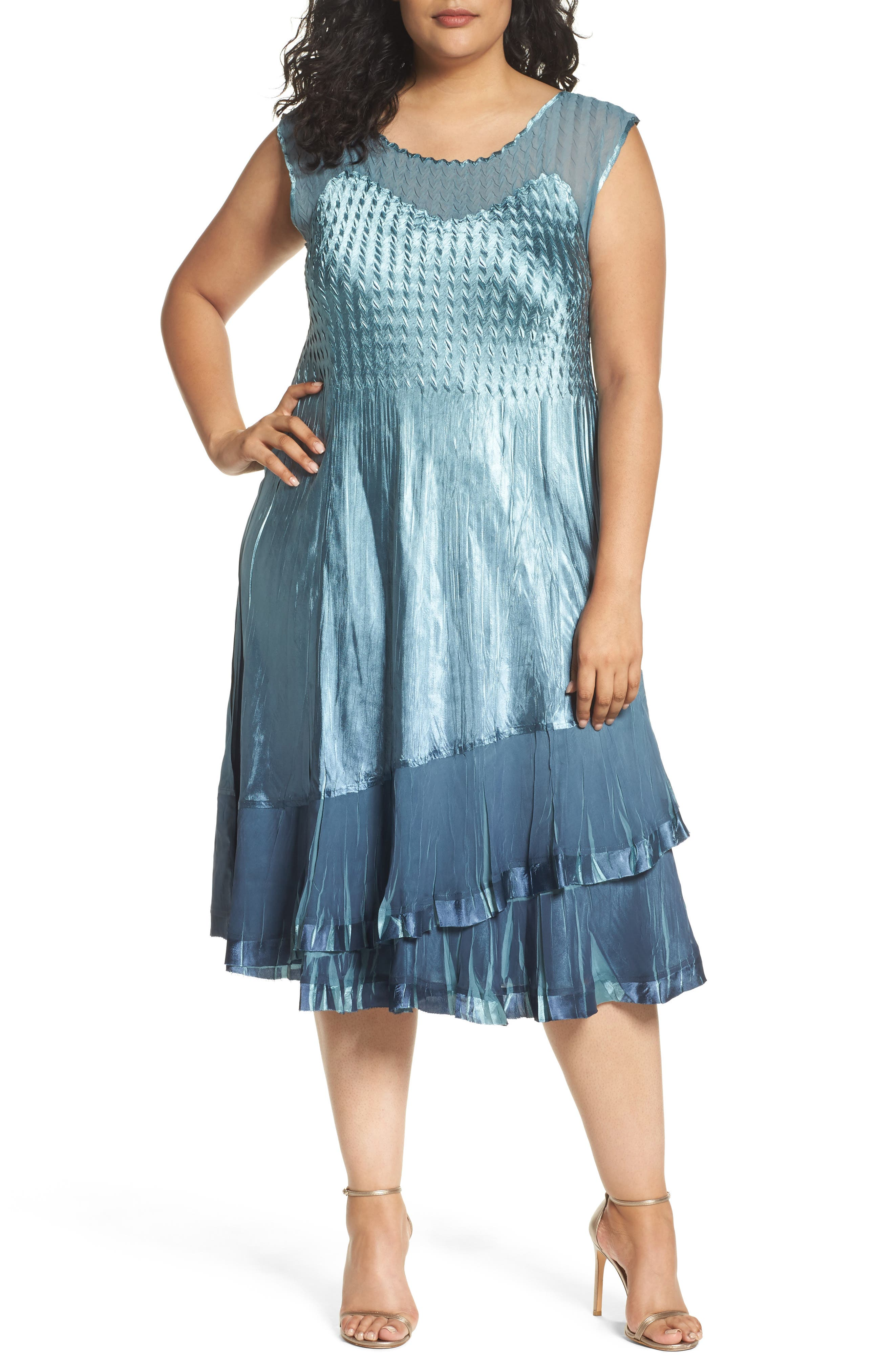 Tiered Dress with Jacket,                             Alternate thumbnail 3, color,                             405