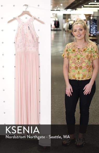 Lace Bodice Keyhole Gown, sales video thumbnail