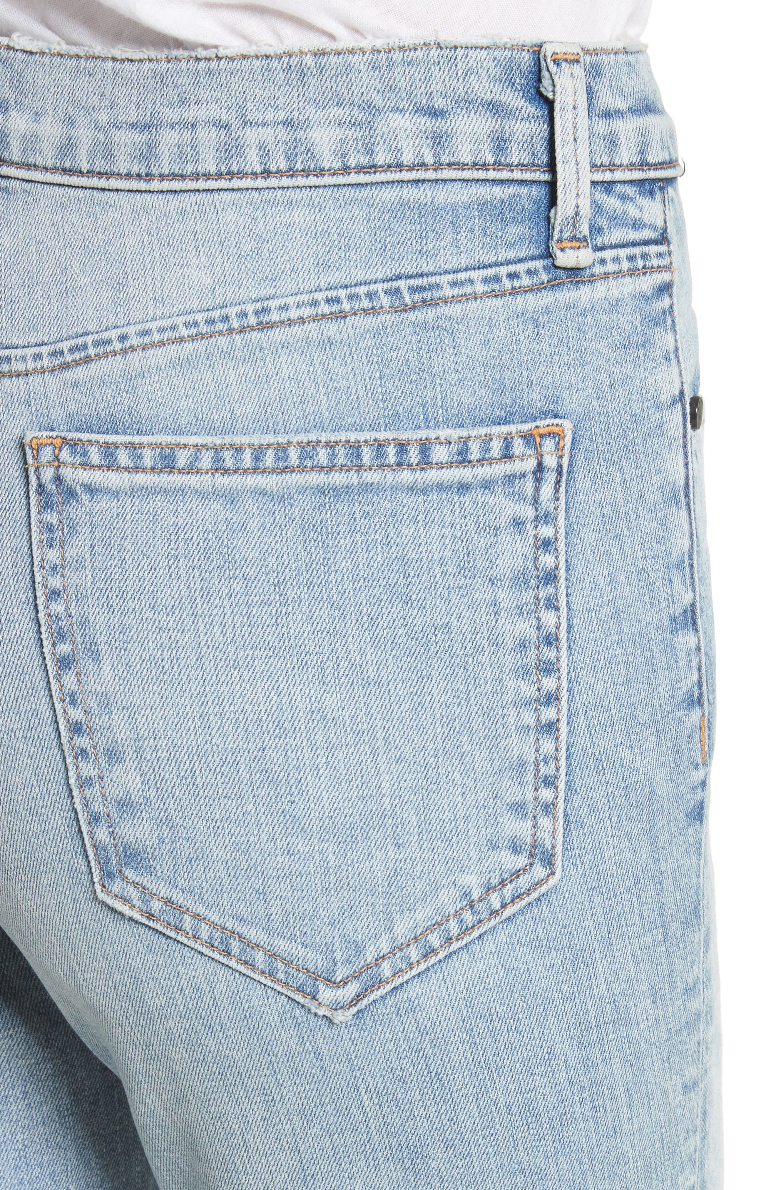 Cigarette Leg Jeans,                             Alternate thumbnail 4, color,                             450
