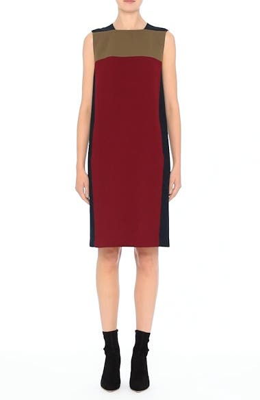 Zandra Colorblock Nouveau Crepe Dress, video thumbnail