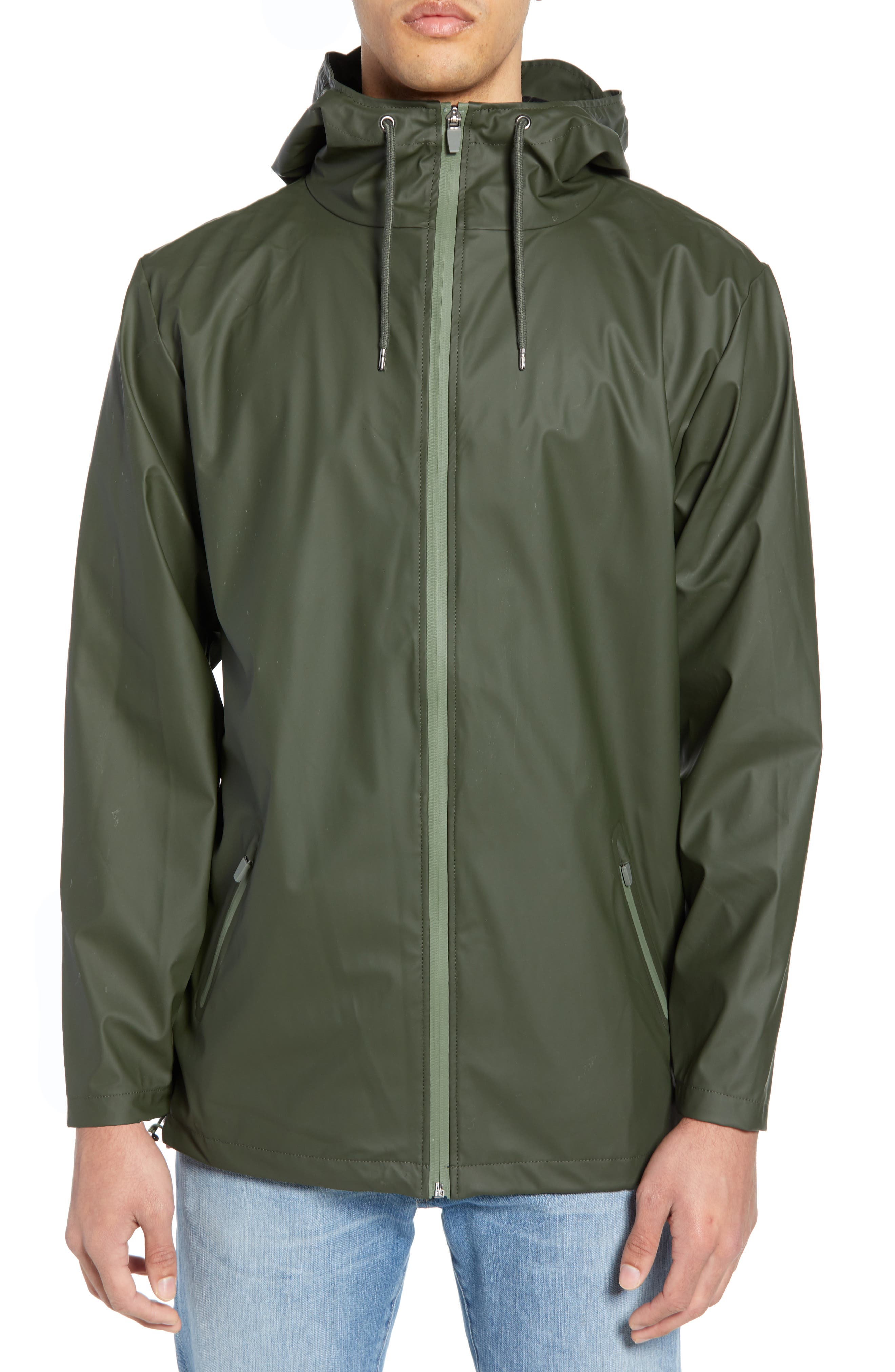 Rains Breaker Water Resistant Jacket, Green
