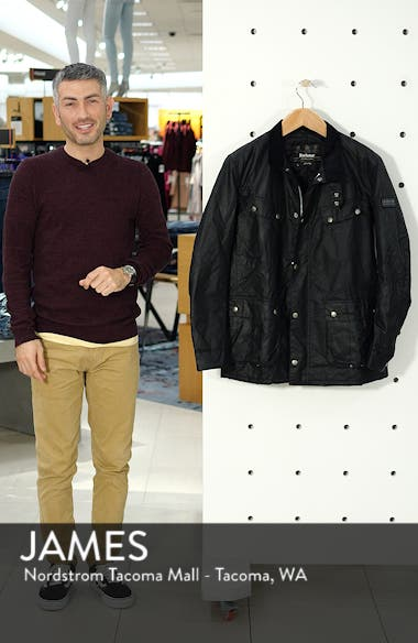 'Duke' Regular Fit Waterproof Waxed Cotton Jacket, sales video thumbnail