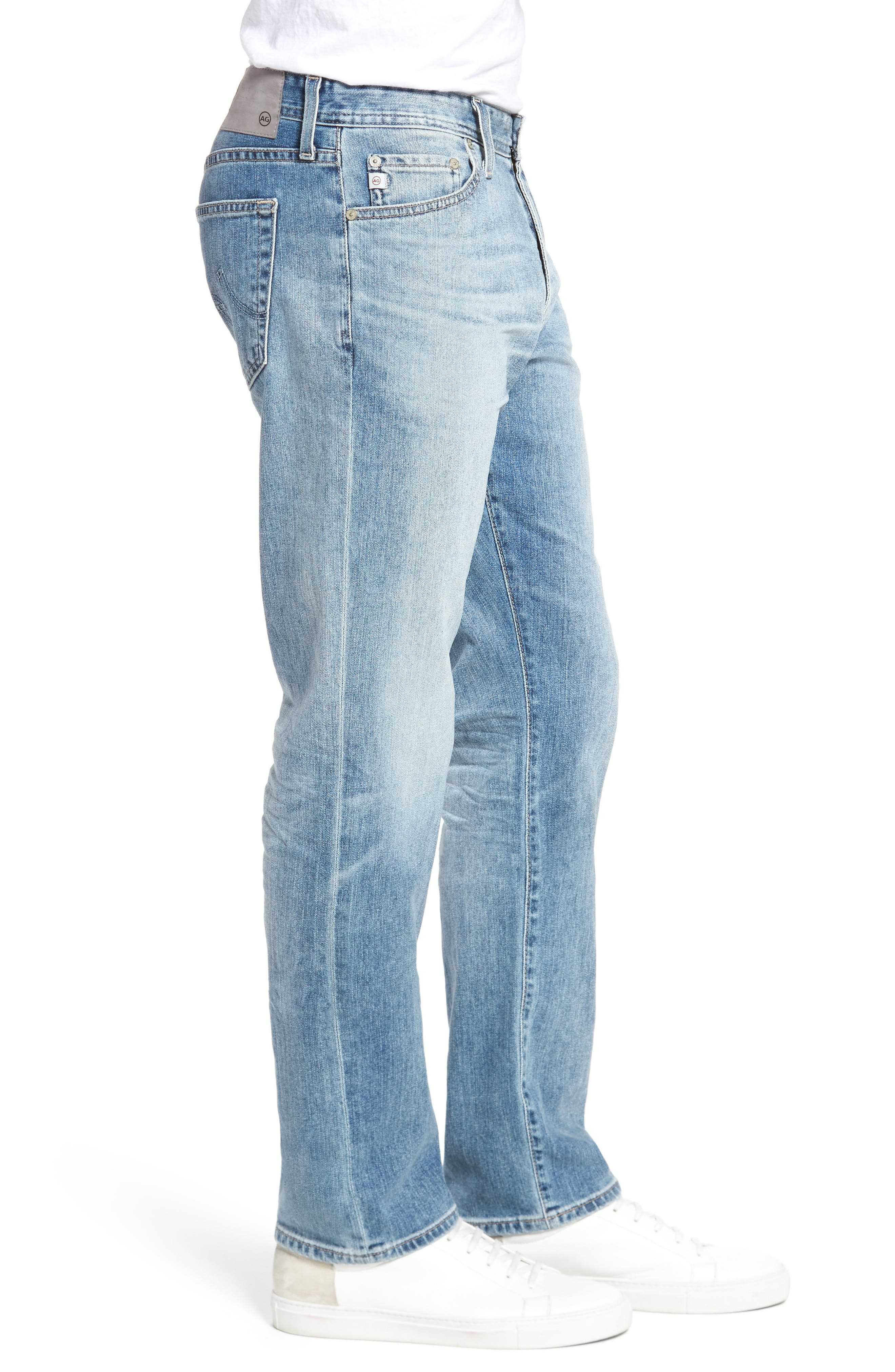 Everett Slim Straight Fit Jeans,                             Alternate thumbnail 3, color,                             452