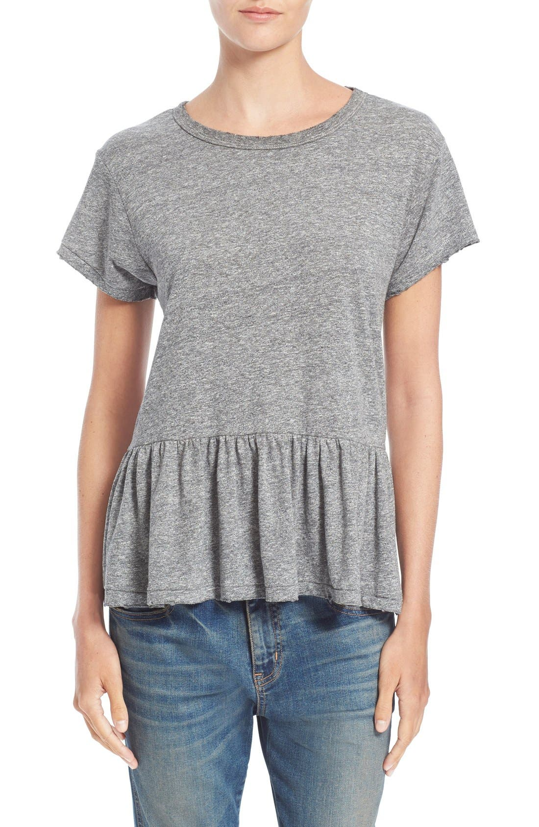 The Ruffle Tee,                             Main thumbnail 4, color,
