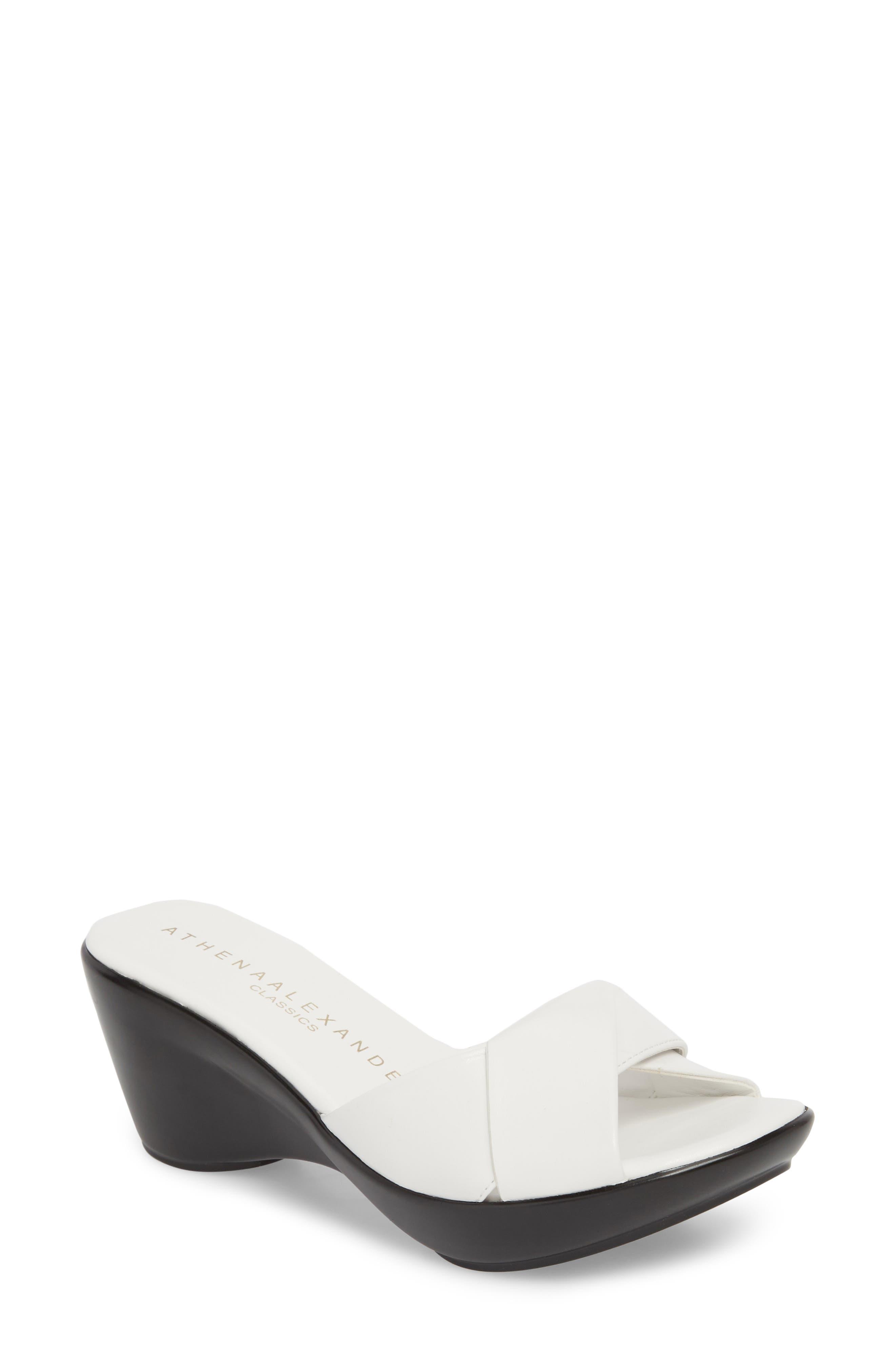 Athena Alexander Orlando Slide Sandal- White