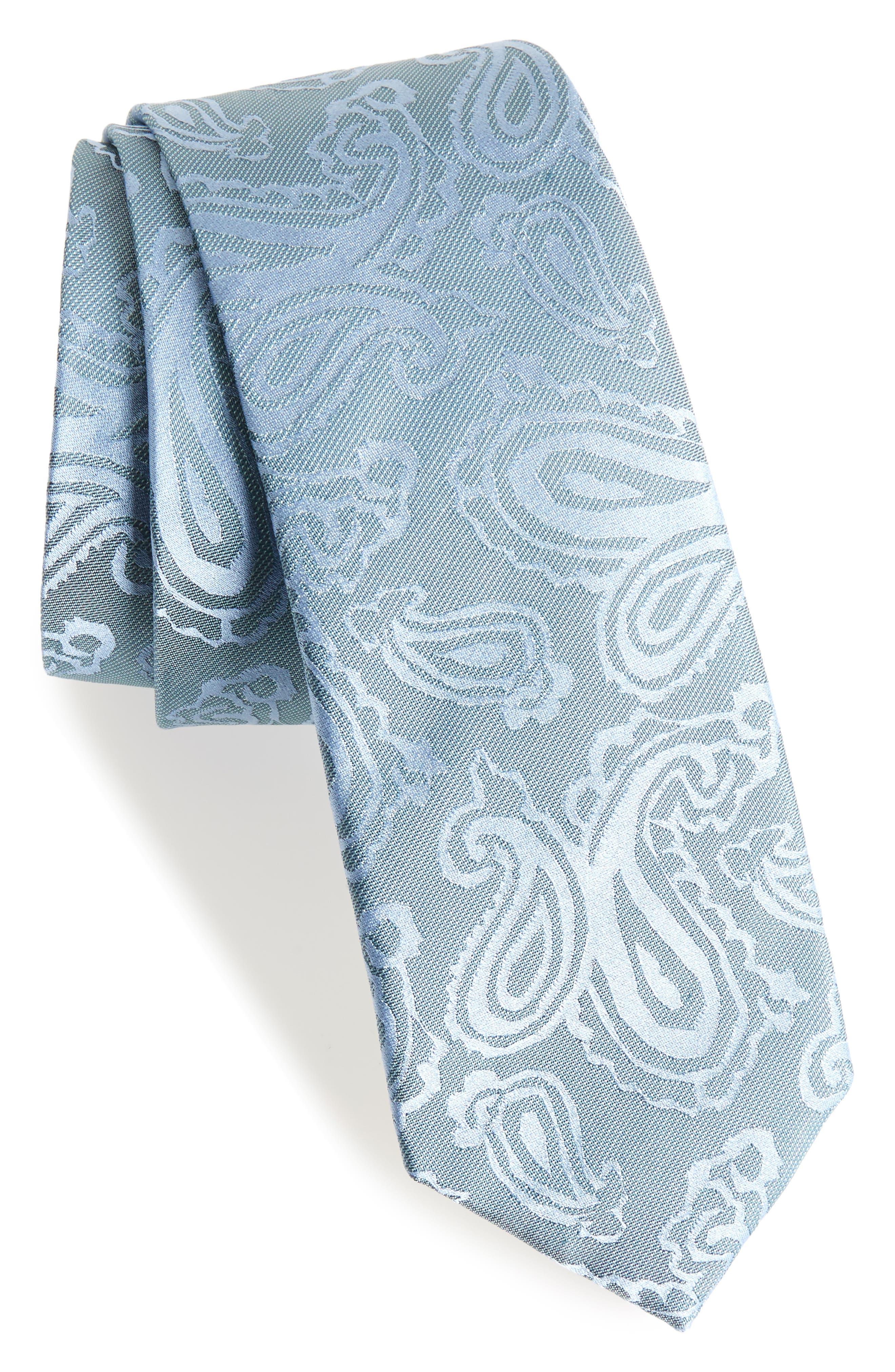 Paisley Silk Skinny Tie,                             Main thumbnail 1, color,                             327